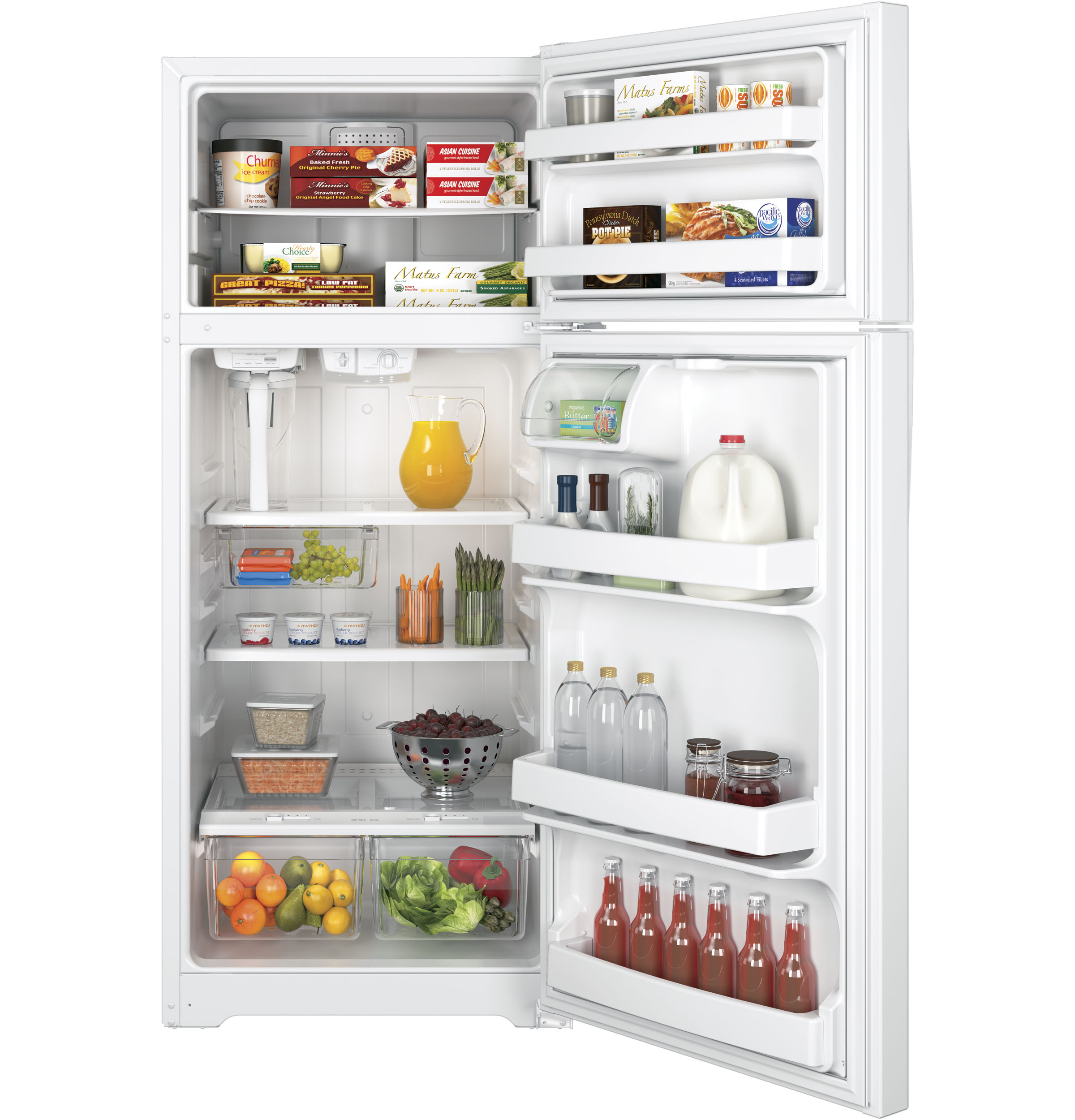 GE Appliances GAS18PGJWW 17.5 cu. ft. Top Freezer Refrigerator - White