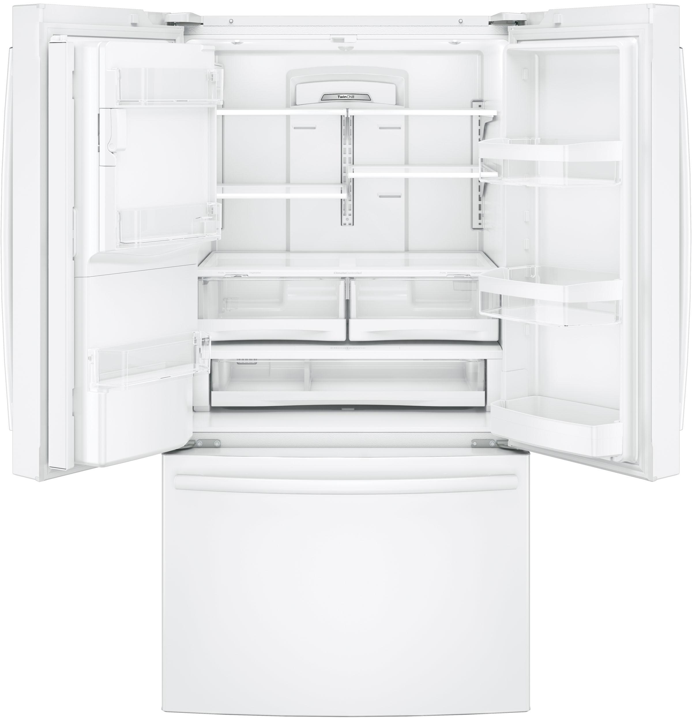 GE Appliances GFE28GGKWW 27.8 cu. ft. French Door Refrigerator - White