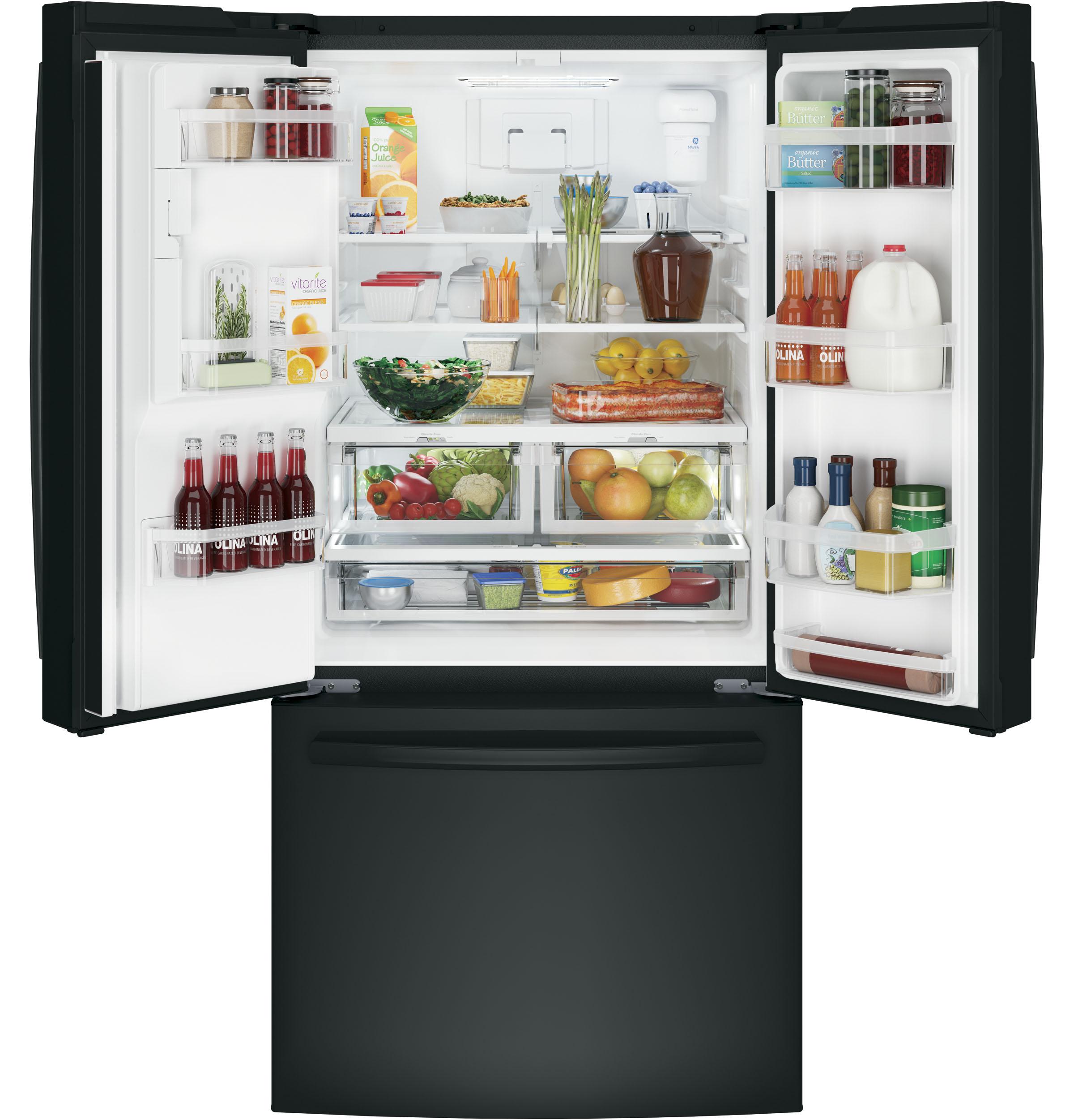 GE Appliances GFE24JGKBB 23.8 cu. ft. French Door Refrigerator - Black