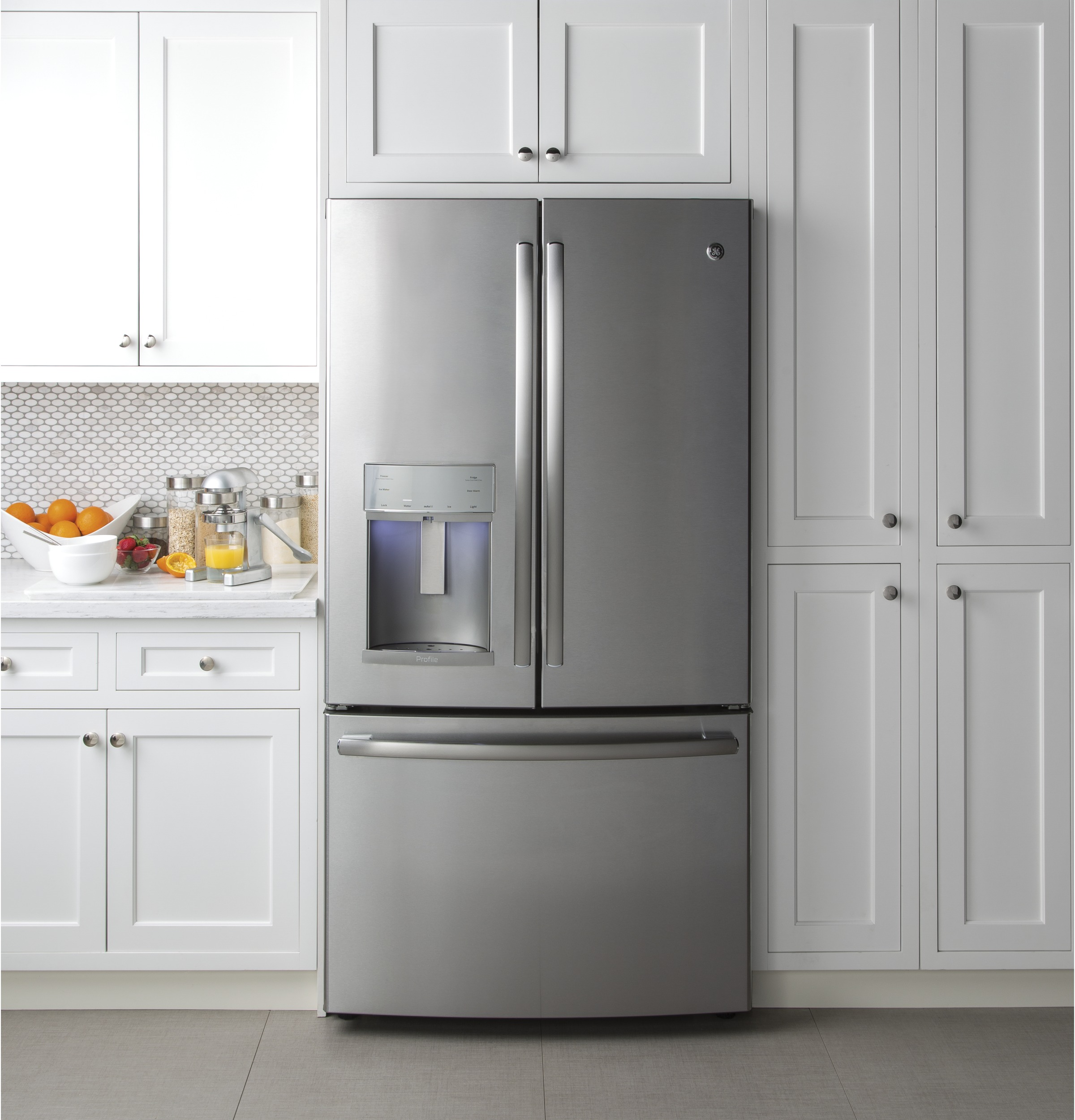 GE Profile™ Series PFE28KSKSS 27.8 cu. ft. French Door Refrigerator - Stainless Steel