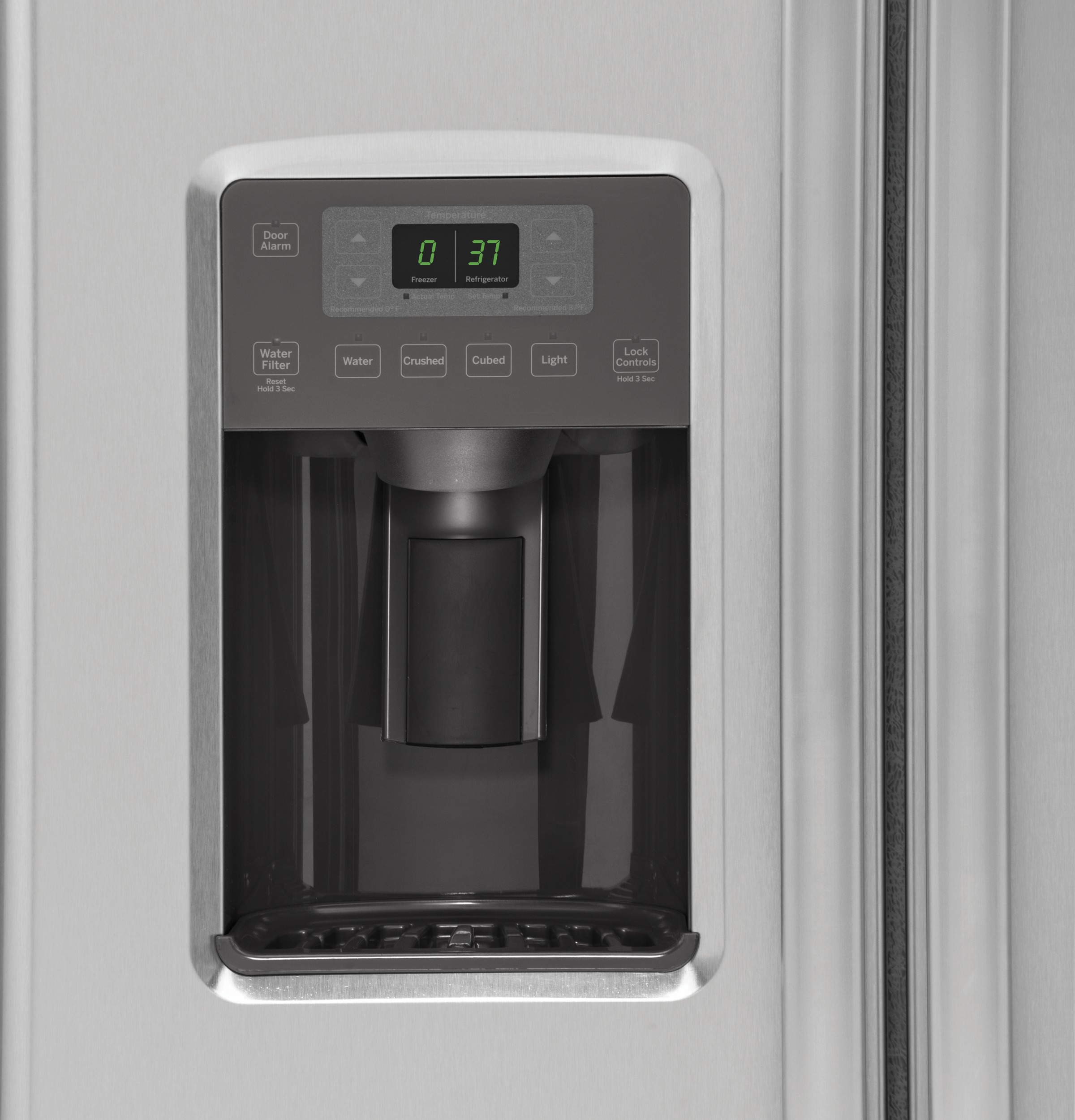 GE Appliances GZS22DSJSS 21.9 cu. ft. Counter-Depth Side-by-Side Refrigerator - Stainless Steel