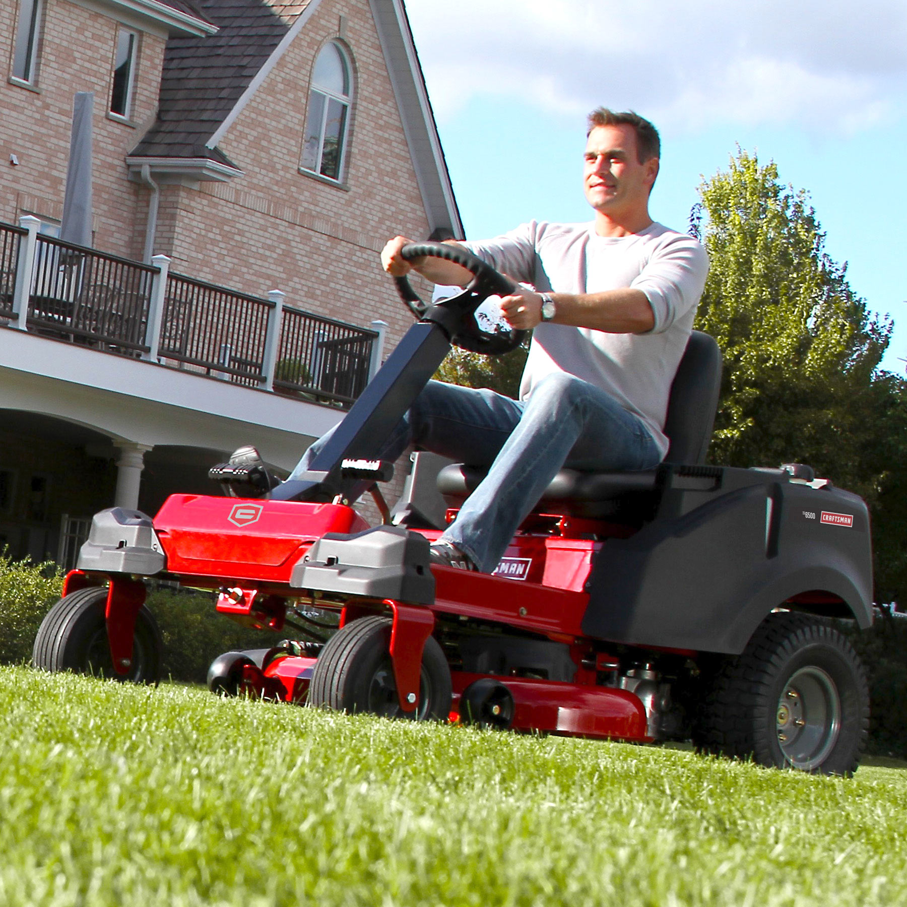 "Craftsman 50"" 23 HP V-Twin Kohler Steering Wheel Zero Turn Riding Mower with Smart Lawn Technology"