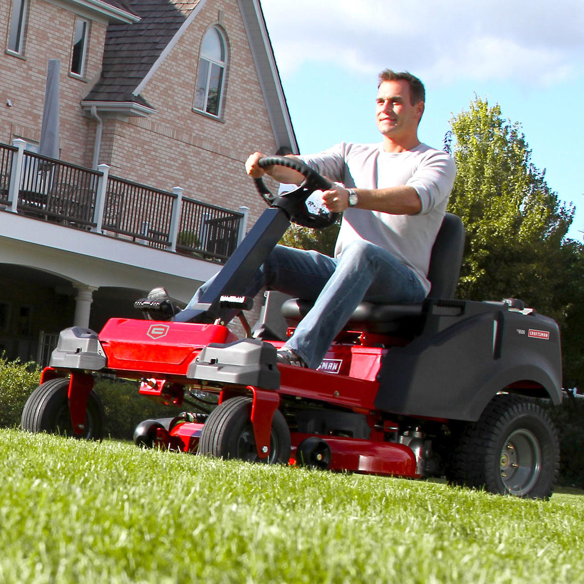 "Craftsman 42"" 22 HP V-Twin Kohler Steering Wheel Zero Turn Riding Mower with Smart Lawn Technology"