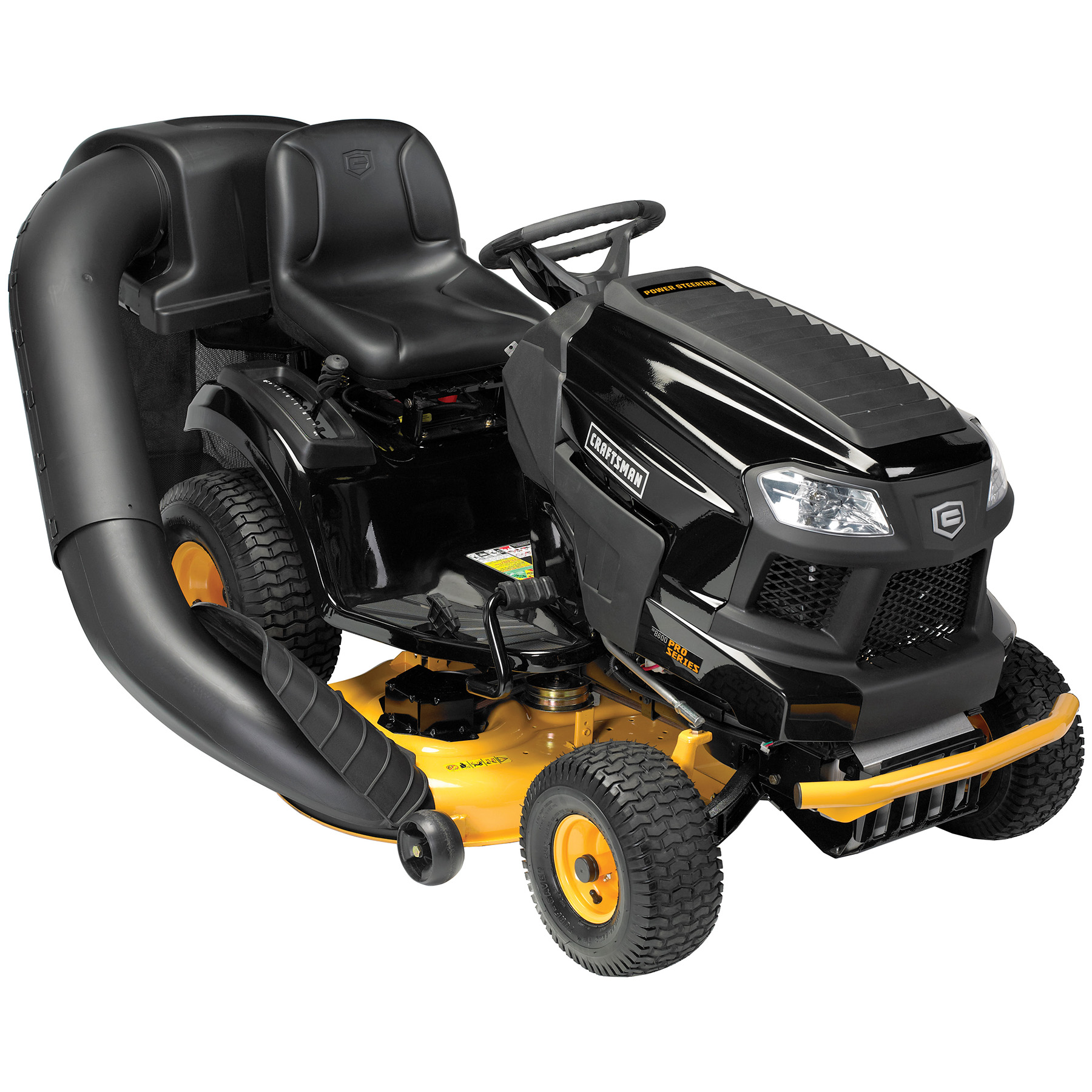 """Craftsman Pro Series 46"""" 24 HP V-Twin Kohler Power Steering Riding Mower with Turn Tight® Extreme"""