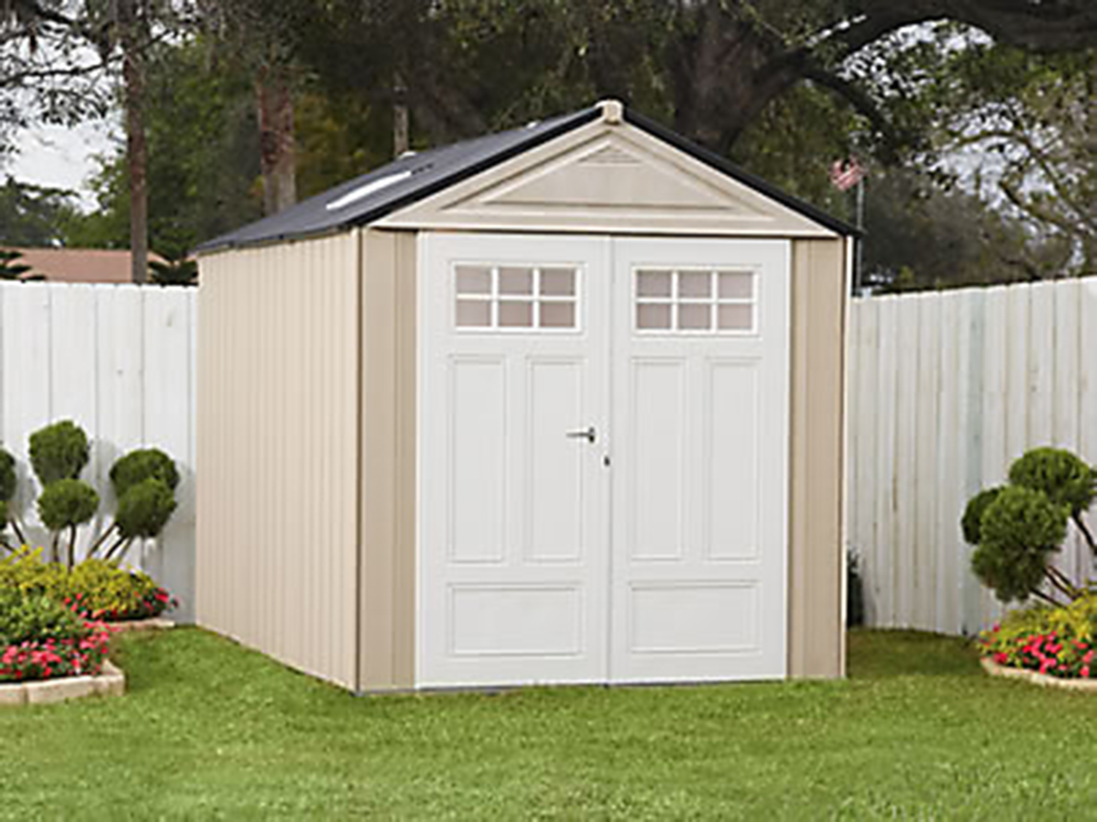 Rubbermaid® Outdoor Resin Storage Shed, 7' x 10'6""