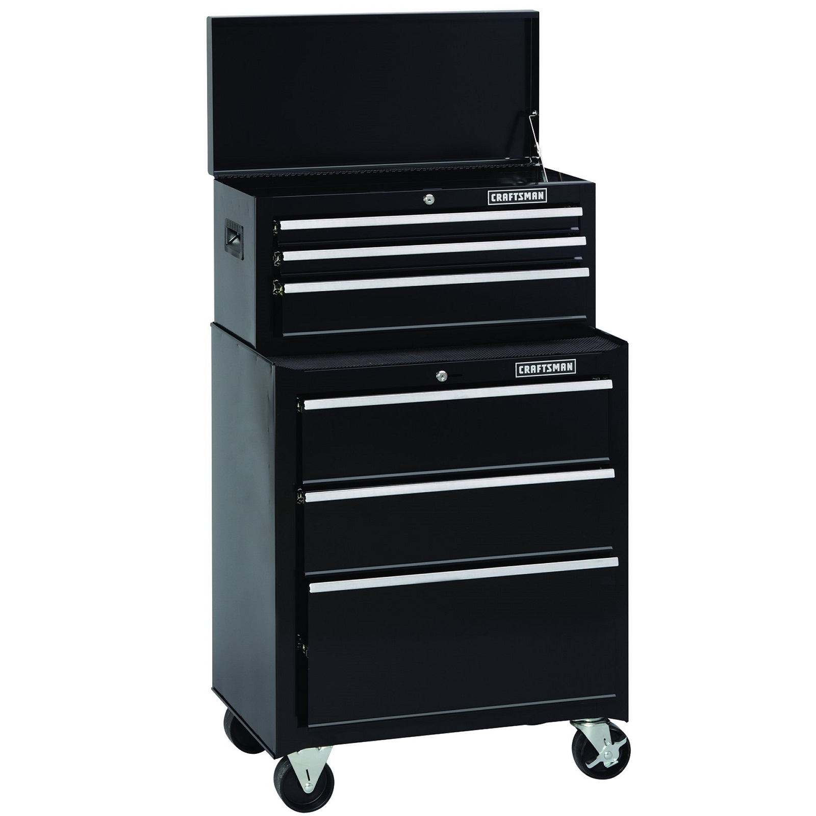 Craftsman 26 in. Wide 6-Drawer Ball-Bearing combo - Black