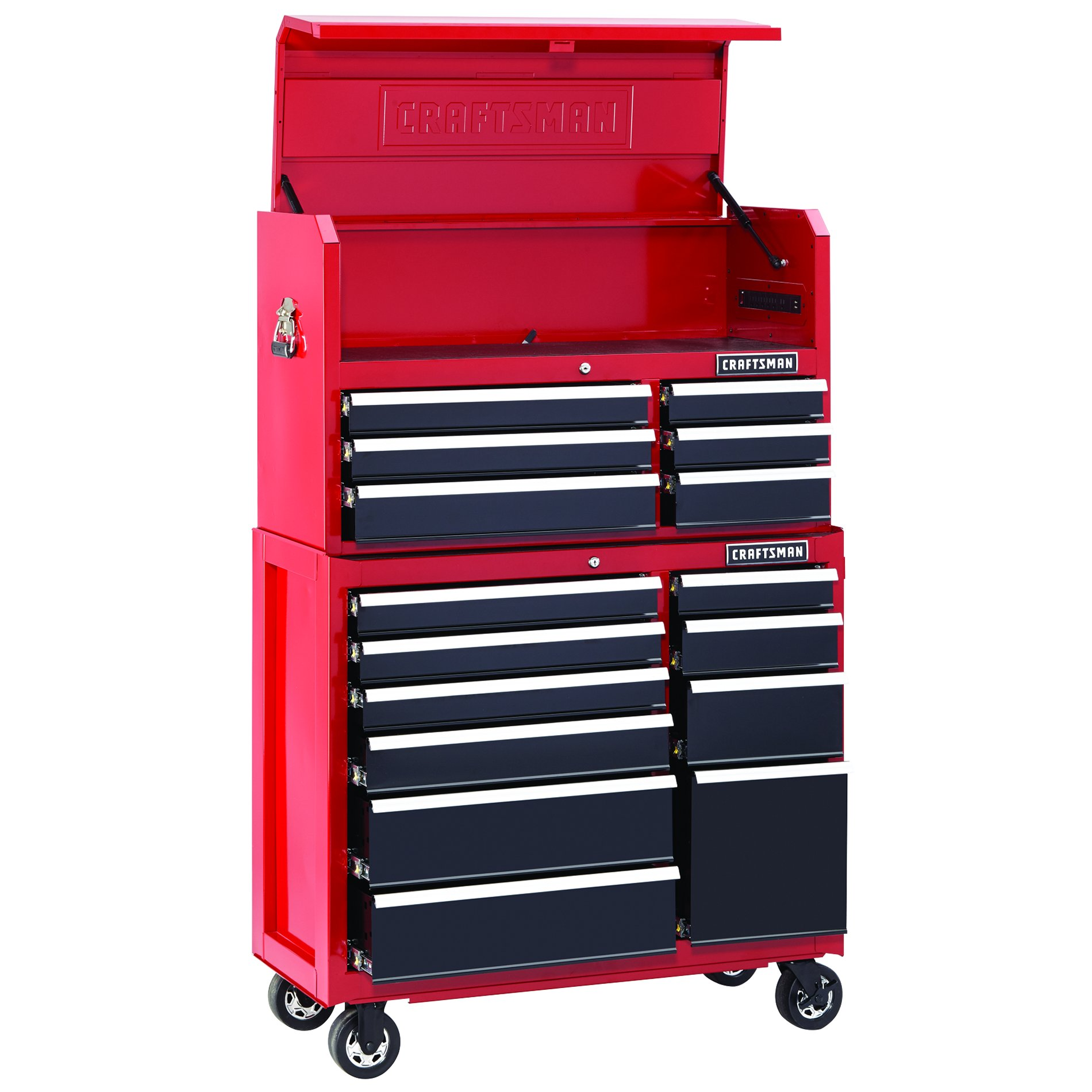Craftsman  Drawer Soft Close Tool Chest And Rolling Cabinet Combination Red Black