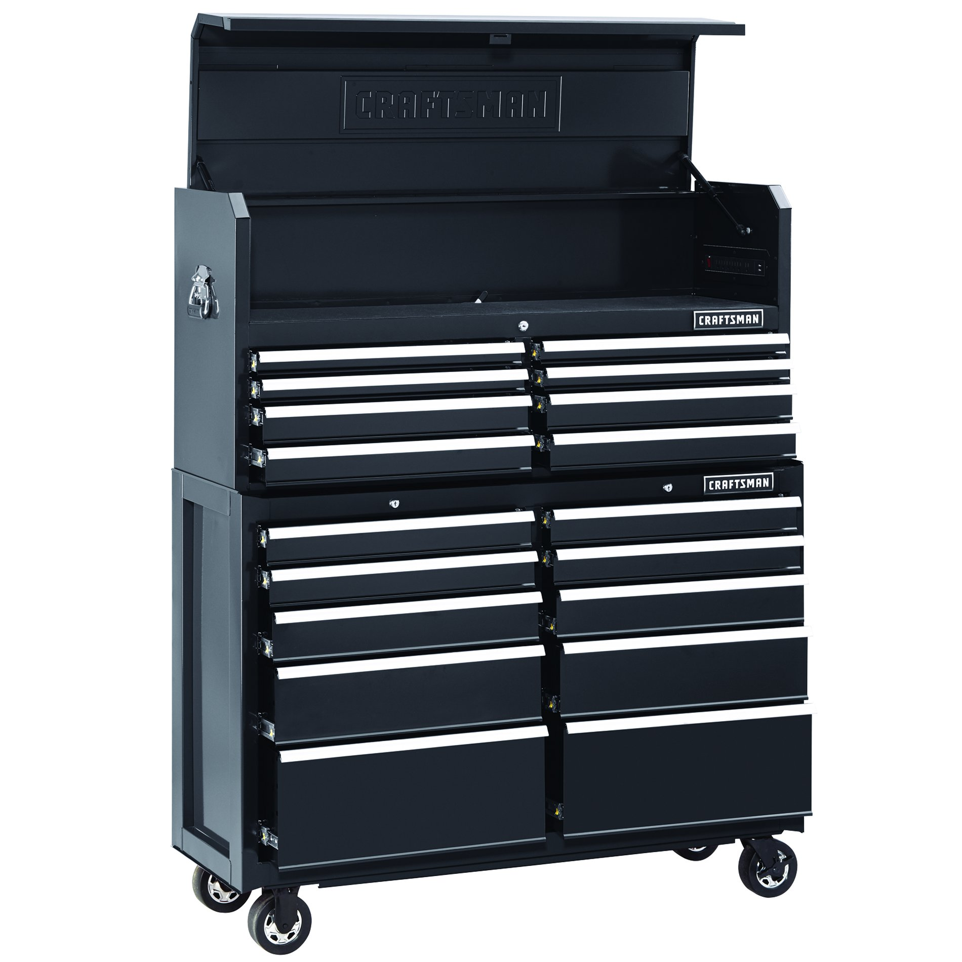 Craftsman 52 Quot Wide 18 Drawer Soft Close Tool Chest And