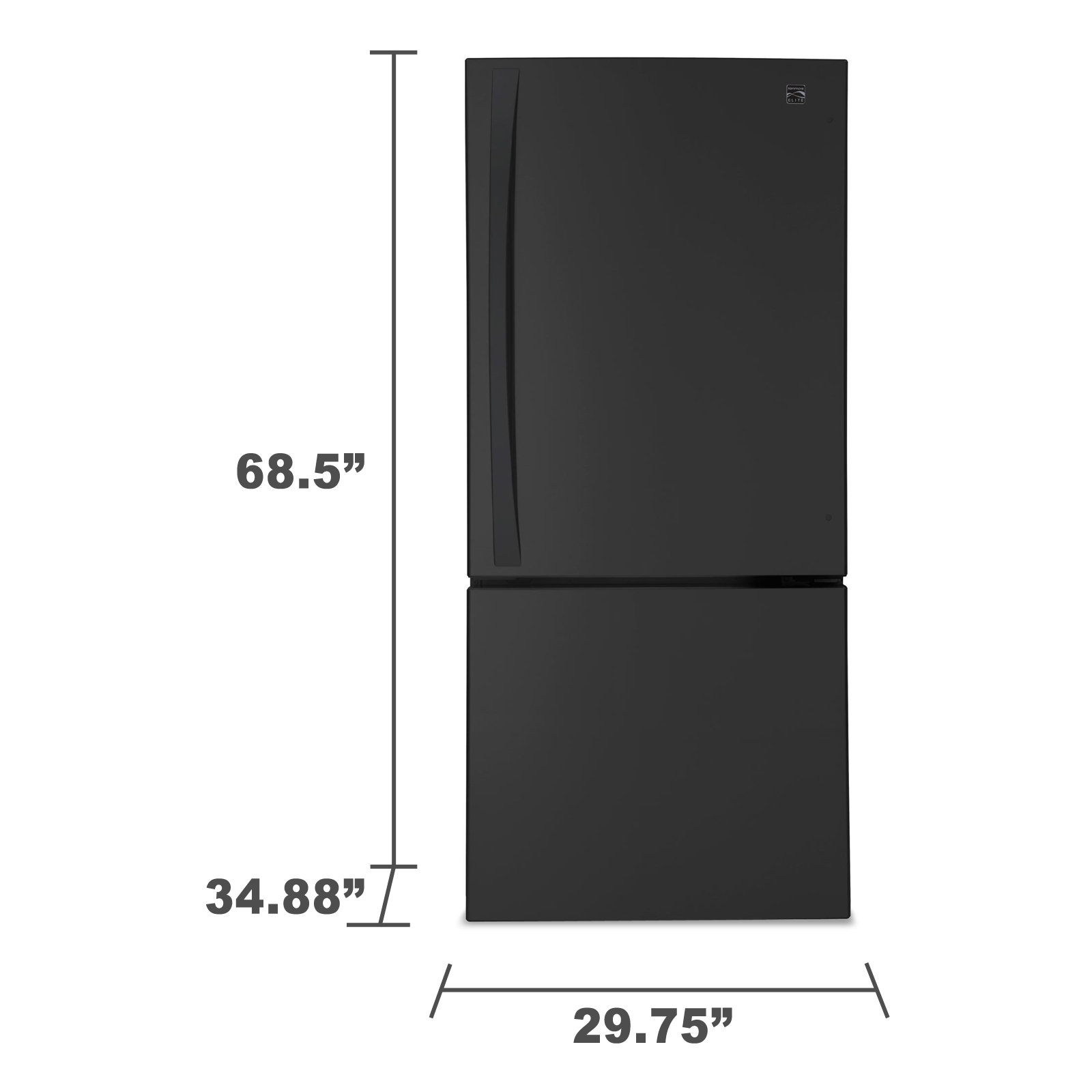 Kenmore Elite 22.1 cu. ft. Bottom-Freezer Refrigerator - Black