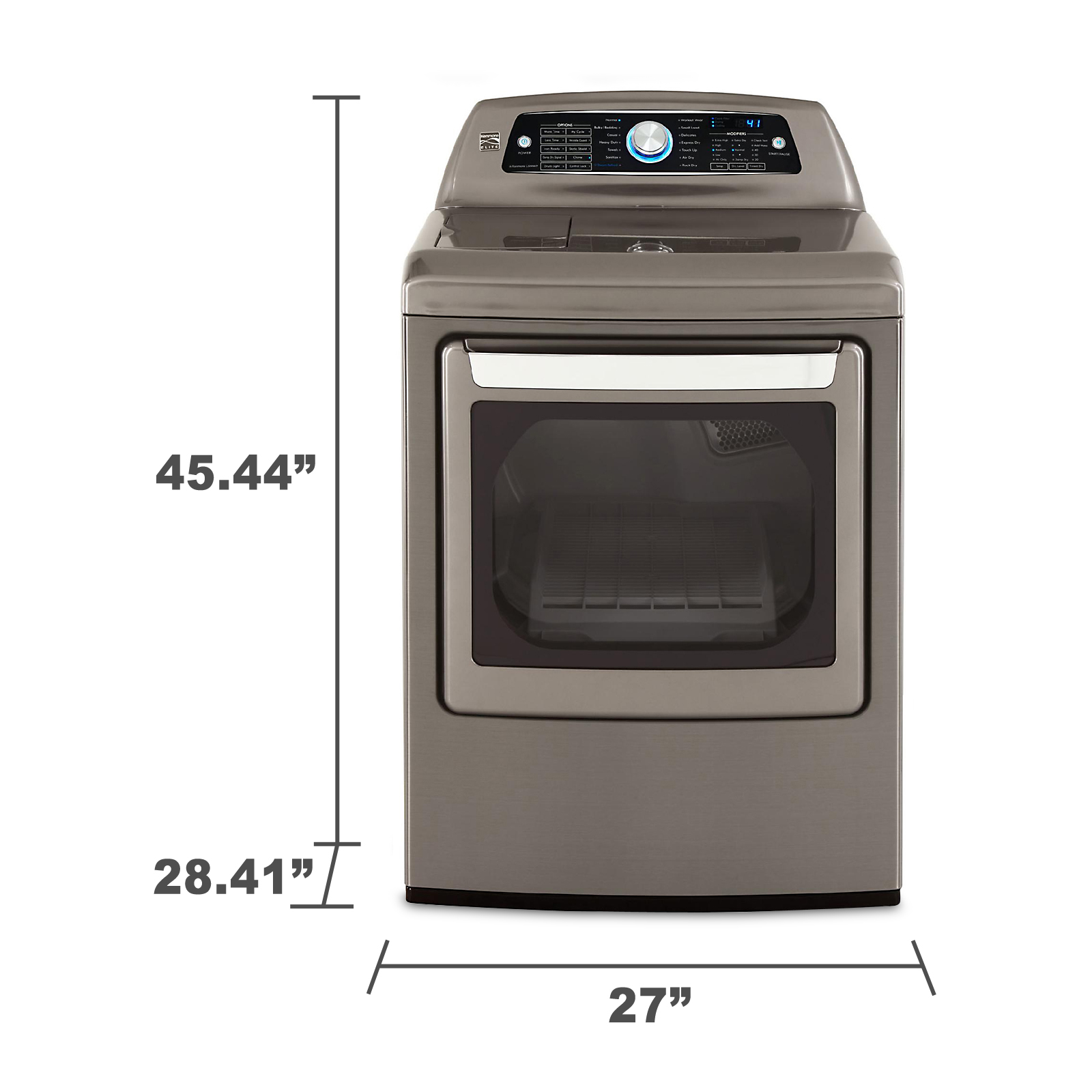 Kenmore Elite 7.3 cu. ft. Gas Dryer w/ Steam - Metallic Gray