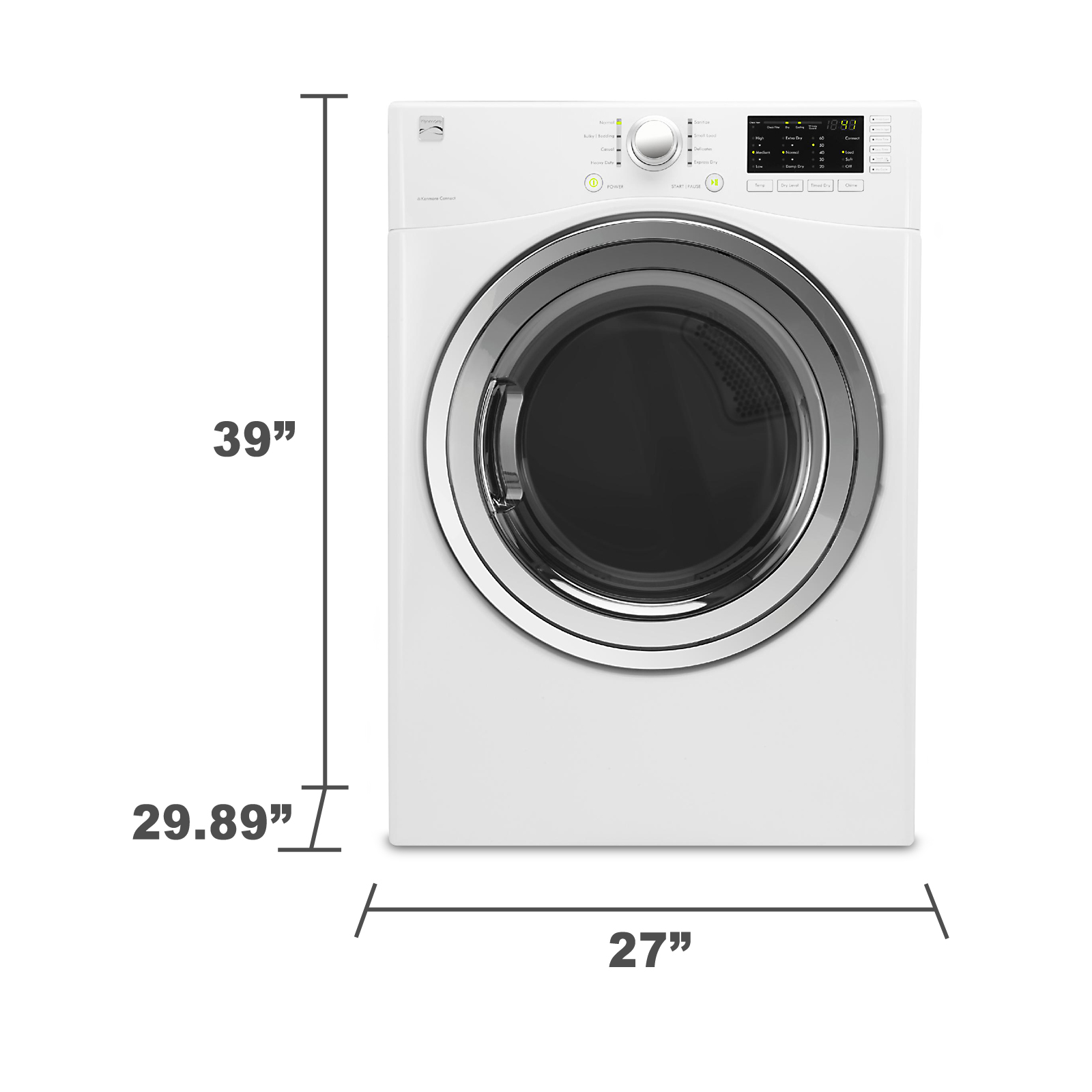 Kenmore 91282 7.3 cu. ft. Gas Dryer - White
