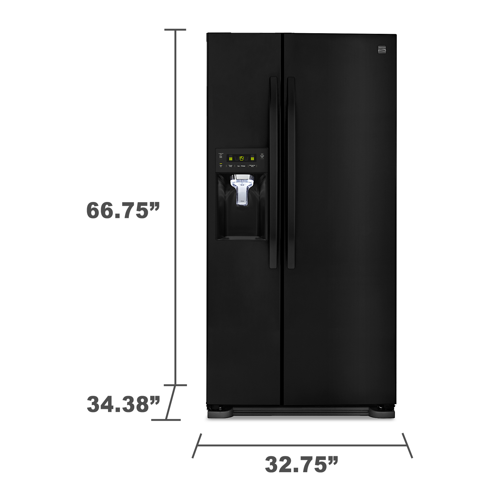 Kenmore 51819 21.9 Cu. Ft. Side-by-Side Refrigerator with Dispenser