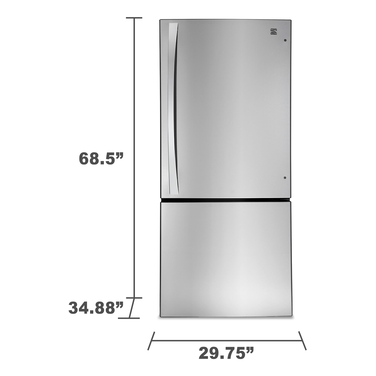 Kenmore Elite 22.1 cu. ft. Bottom-Freezer Refrigerator - Stainless Steel