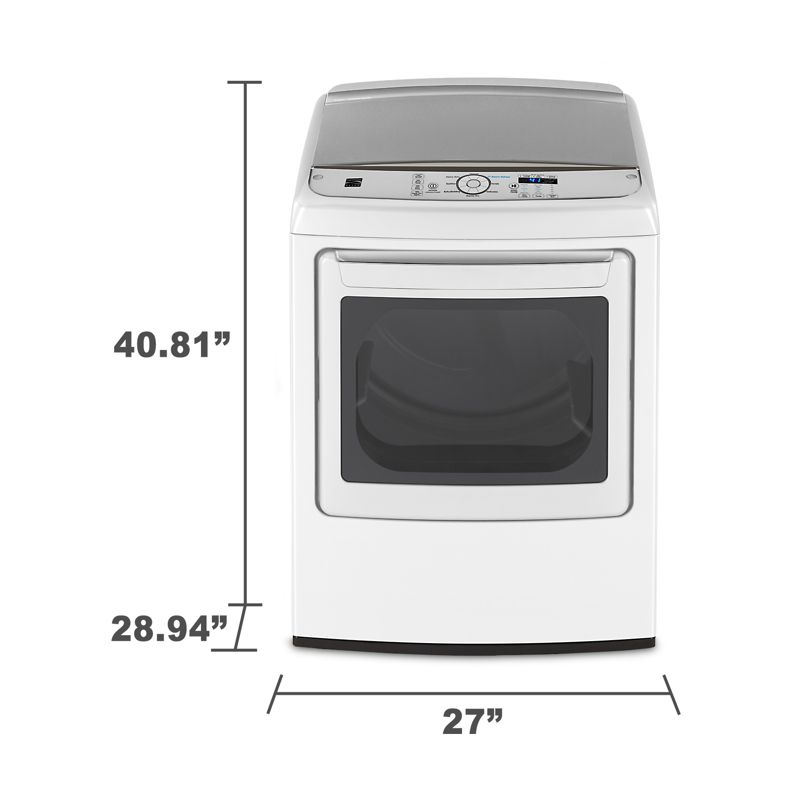 Kenmore Elite 7.3 cu. ft. Gas Dryer w/ Steam - White