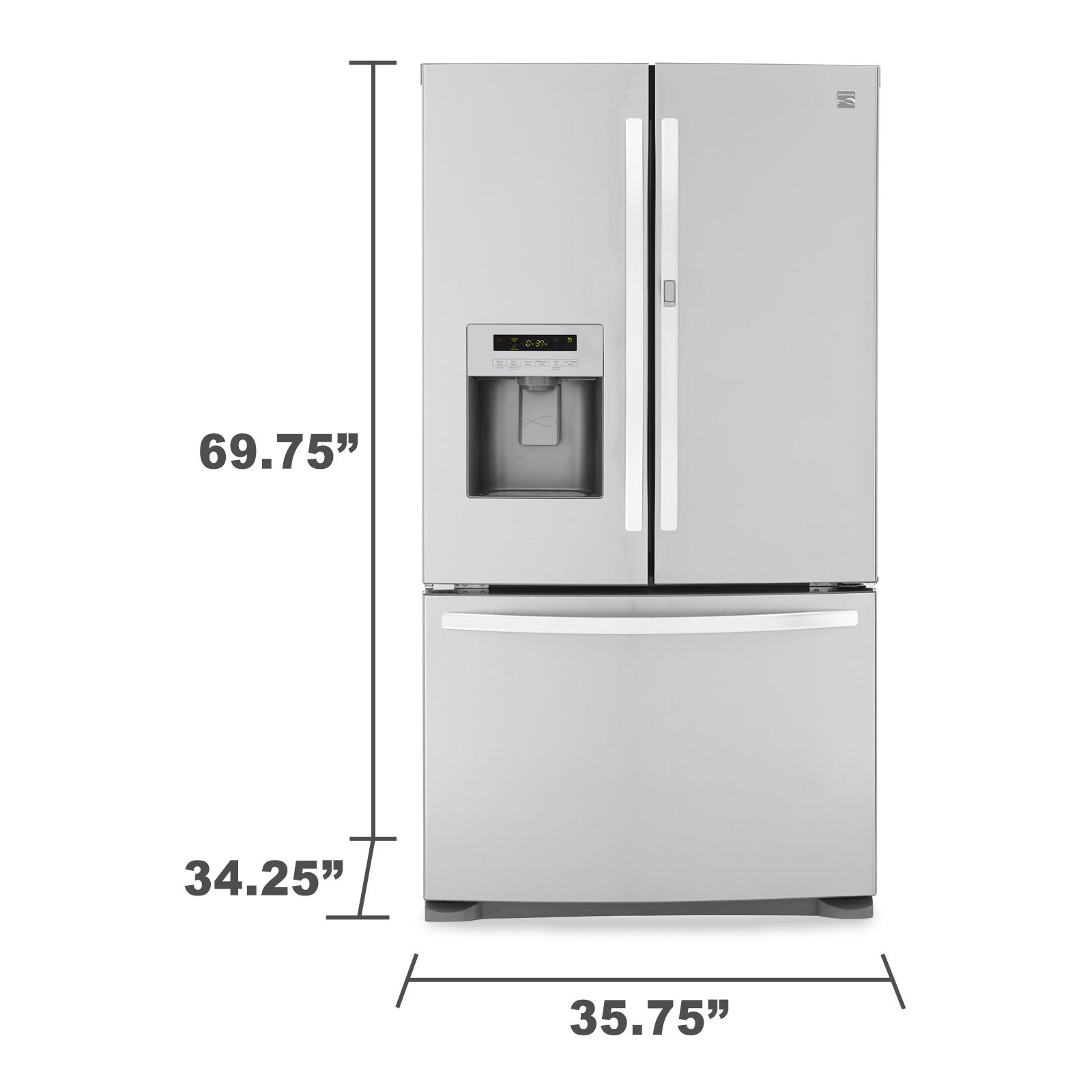 Kenmore 70333 23.9 cu. ft. French Door Bottom-Freezer Refrigerator w/Grab-N-Go™ Door