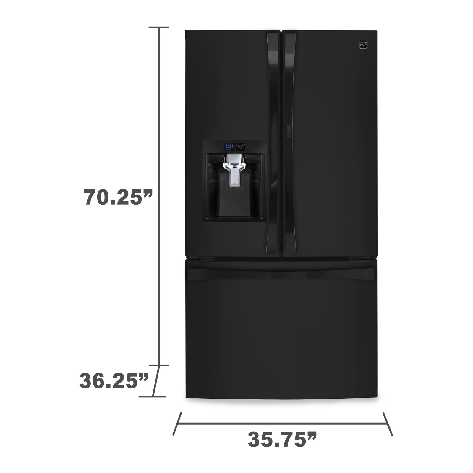 Kenmore Elite 74039 29.6 cu. ft. Black French Door Refrigerator with Bottom Freezer