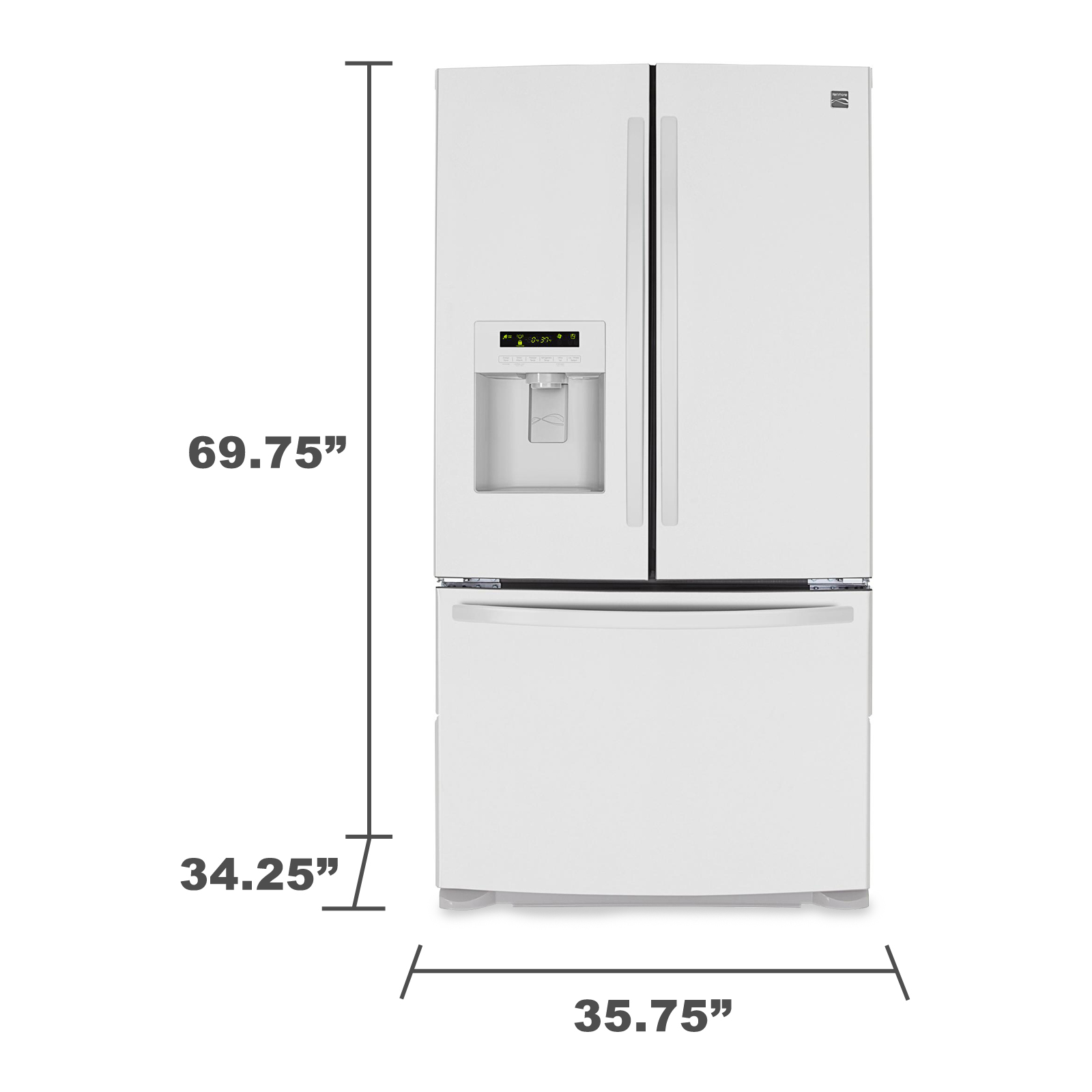 Kenmore 24.1 cu. ft. French Door Bottom-Freezer Refrigerator -  White