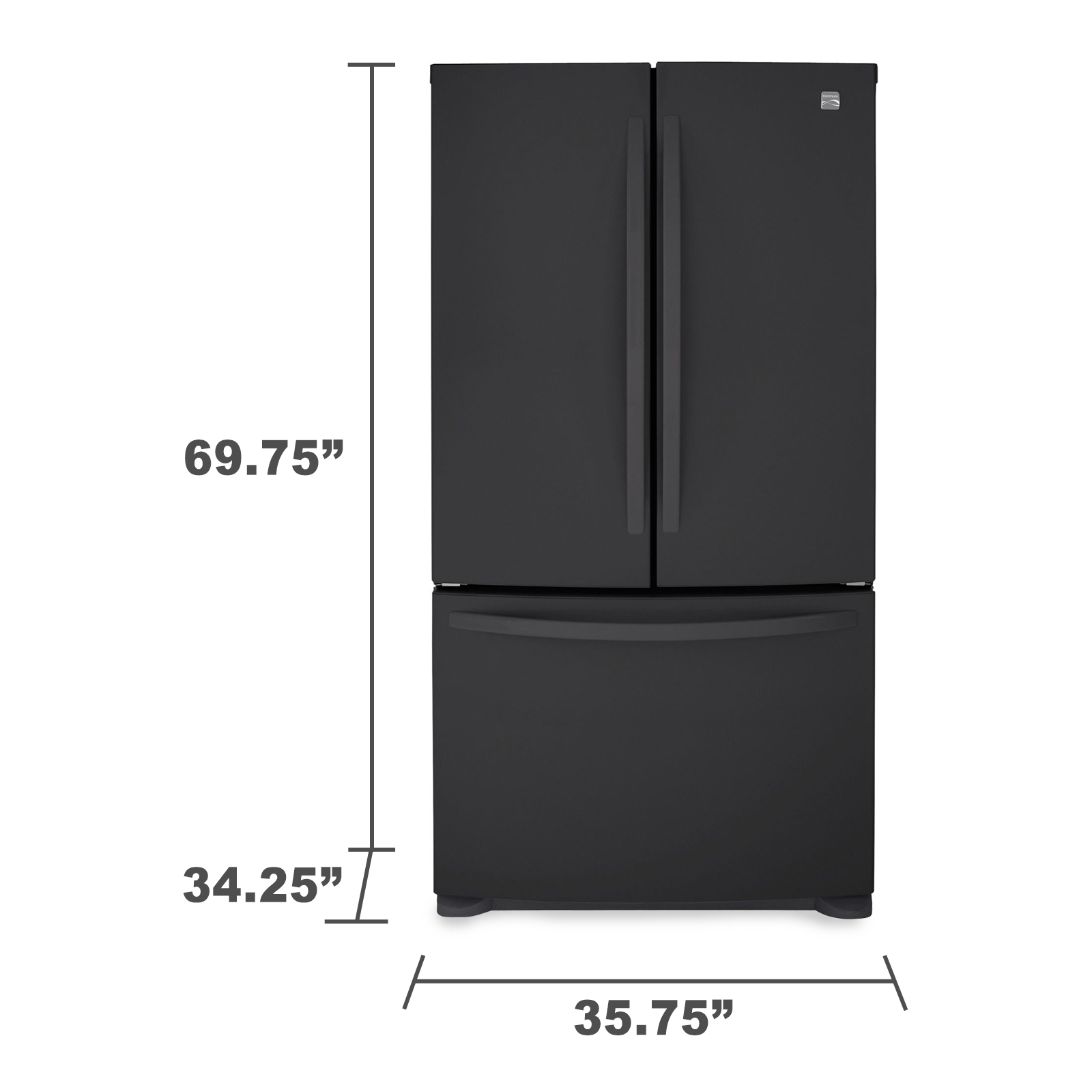 Kenmore 25.4 cu. ft. French Door Bottom-Freezer Refrigerator - Black