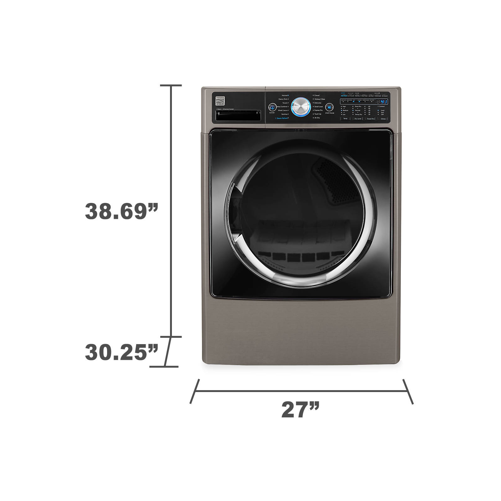 Kenmore Elite 81583 7.4 cu. ft. Front-Load Electric Dryer w/ Steam