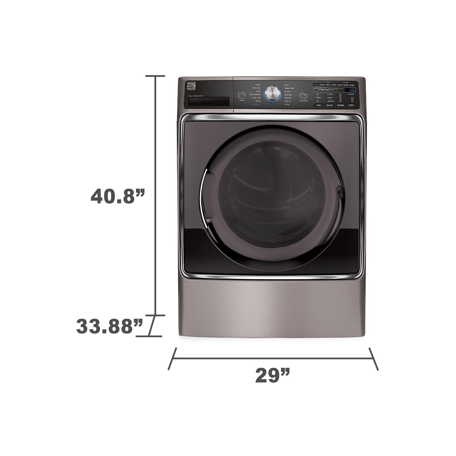 Kenmore Elite 81073 9.0 cu. ft. Electric Dryer - Metallic Silver