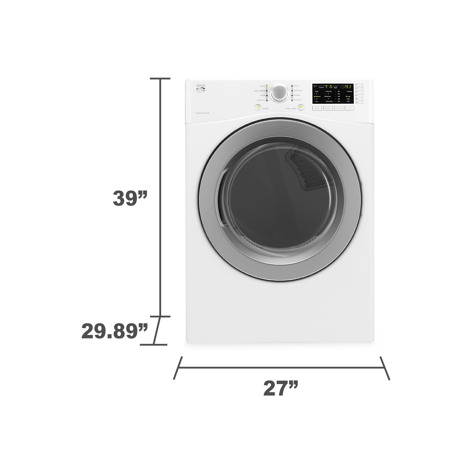 Kenmore 81182 7.3 cu. ft. Electric Dryer w/ Sensor Dry - White