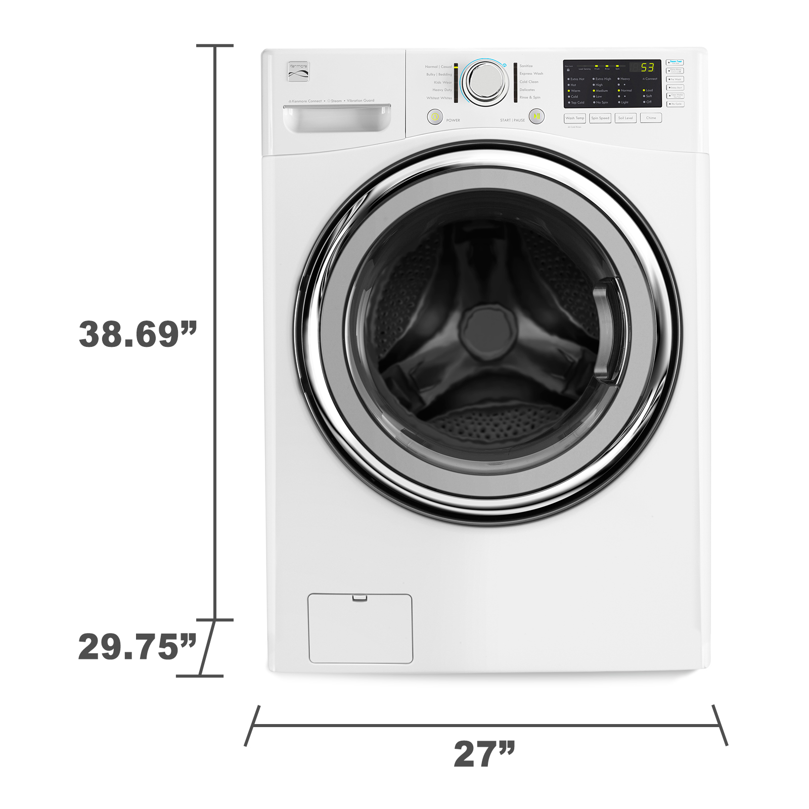 Kenmore 41382 4.3 cu. ft. Front-Load Washer w/Steam - White