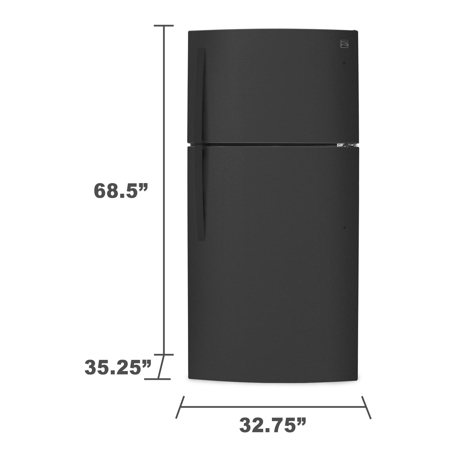 Kenmore 78039 23.8 cu. ft. Top-Freezer Refrigerator w/ Icemaker - Black