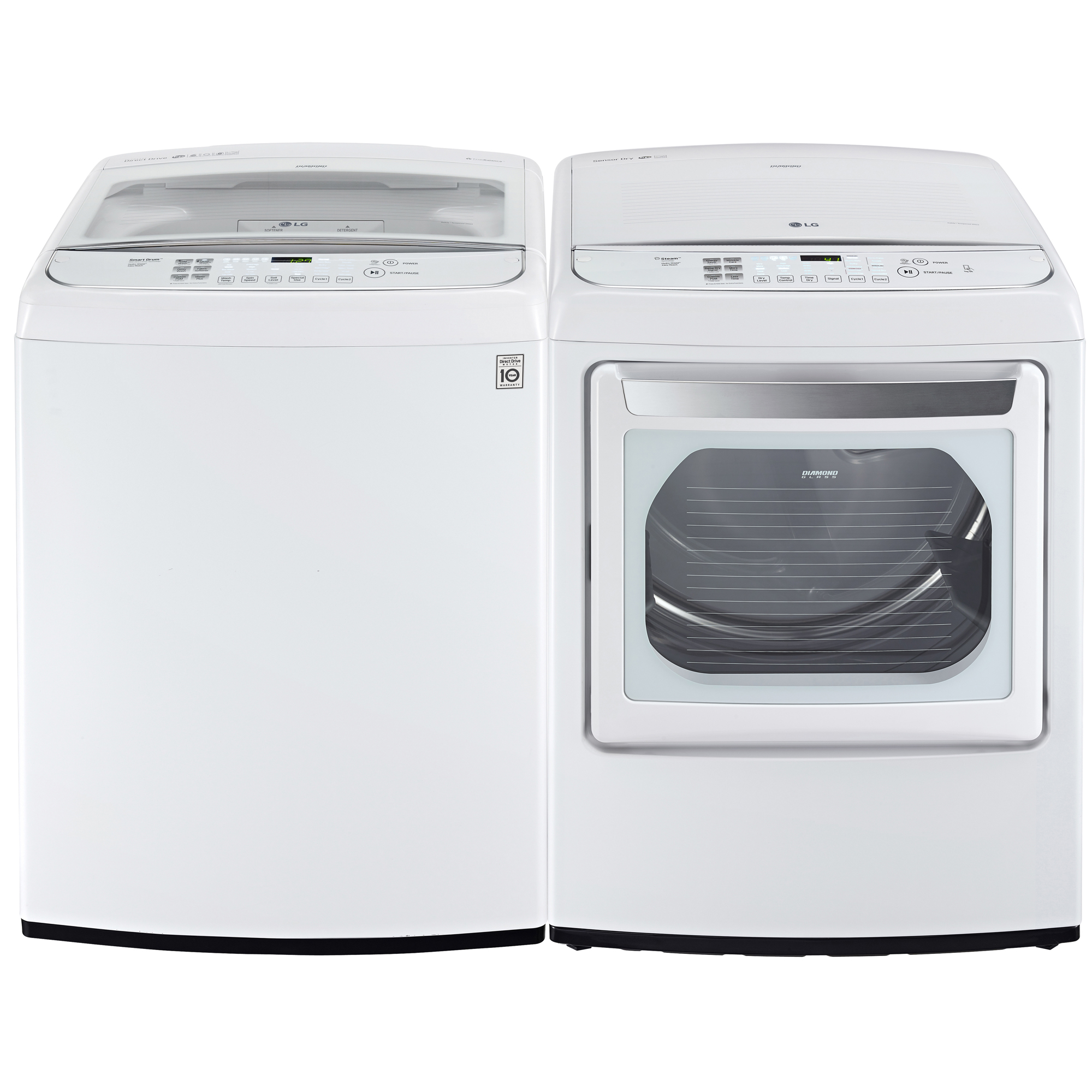 LG DLEY1701WE 7.3 cu. ft. Steam Electric Dryer w/ Front Controls and EasyLoad™ Door – White