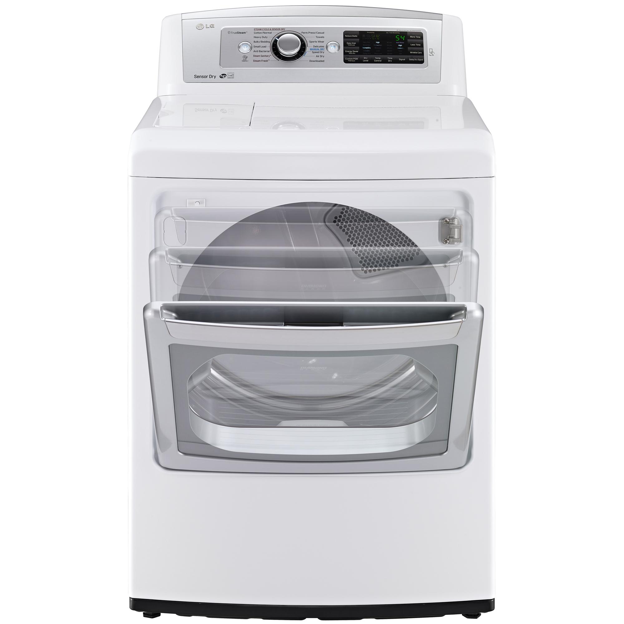 LG DLEX5780WE 7.3 cu. ft. Steam Electric Dryer w/ EasyLoad™ Door - White