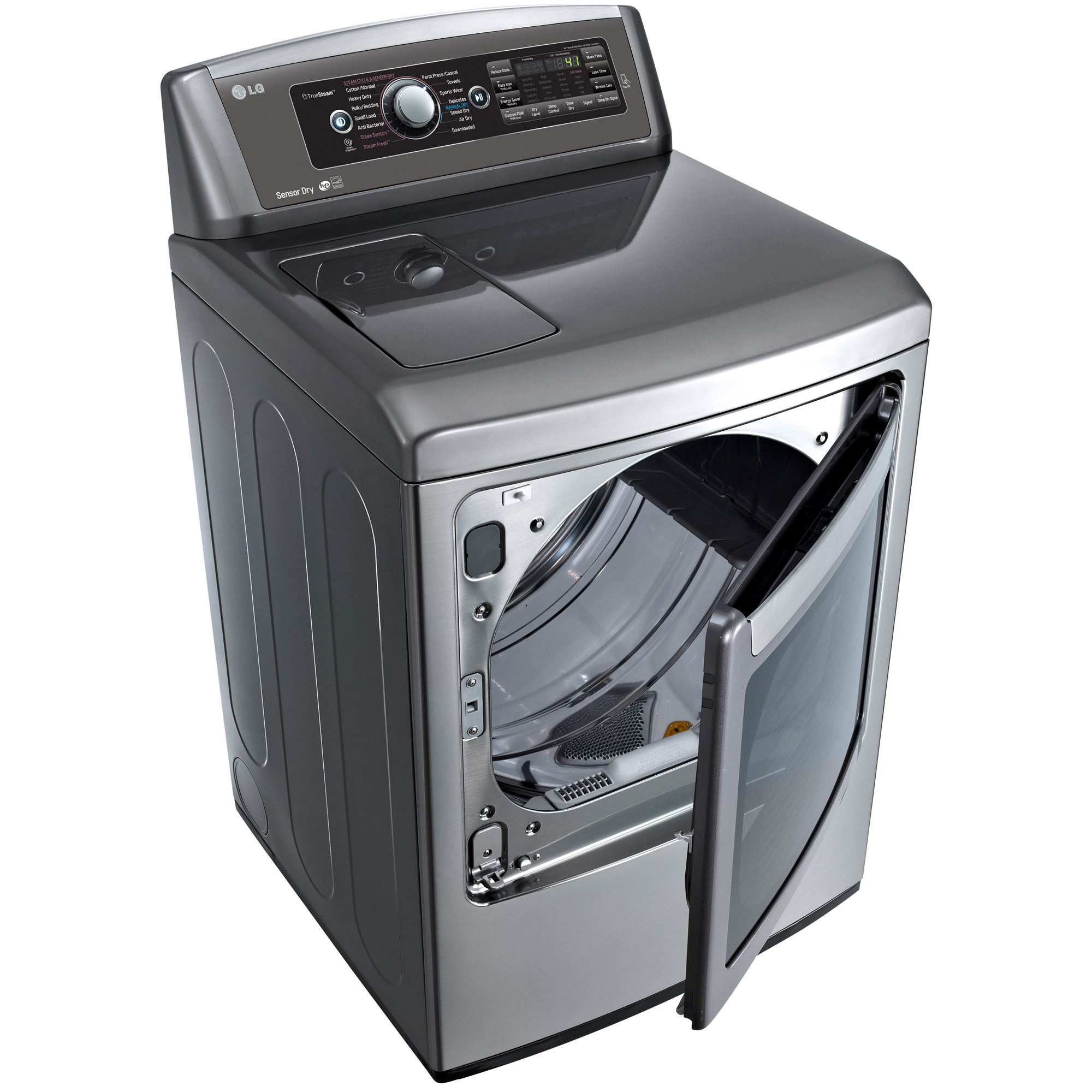 LG DLEX5780VE 7.3 cu. ft. Steam Electric Dryer w/ EasyLoad™ Door - Graphite Steel