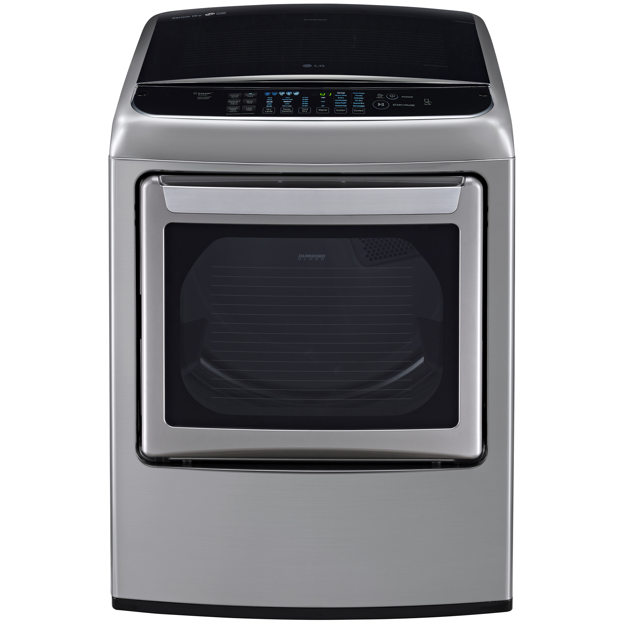 LG DLGY1702VE 7.3 cu. ft. Steam Gas Dryer w/ Front Controls and EasyLoad™ Door – Graphite Steel