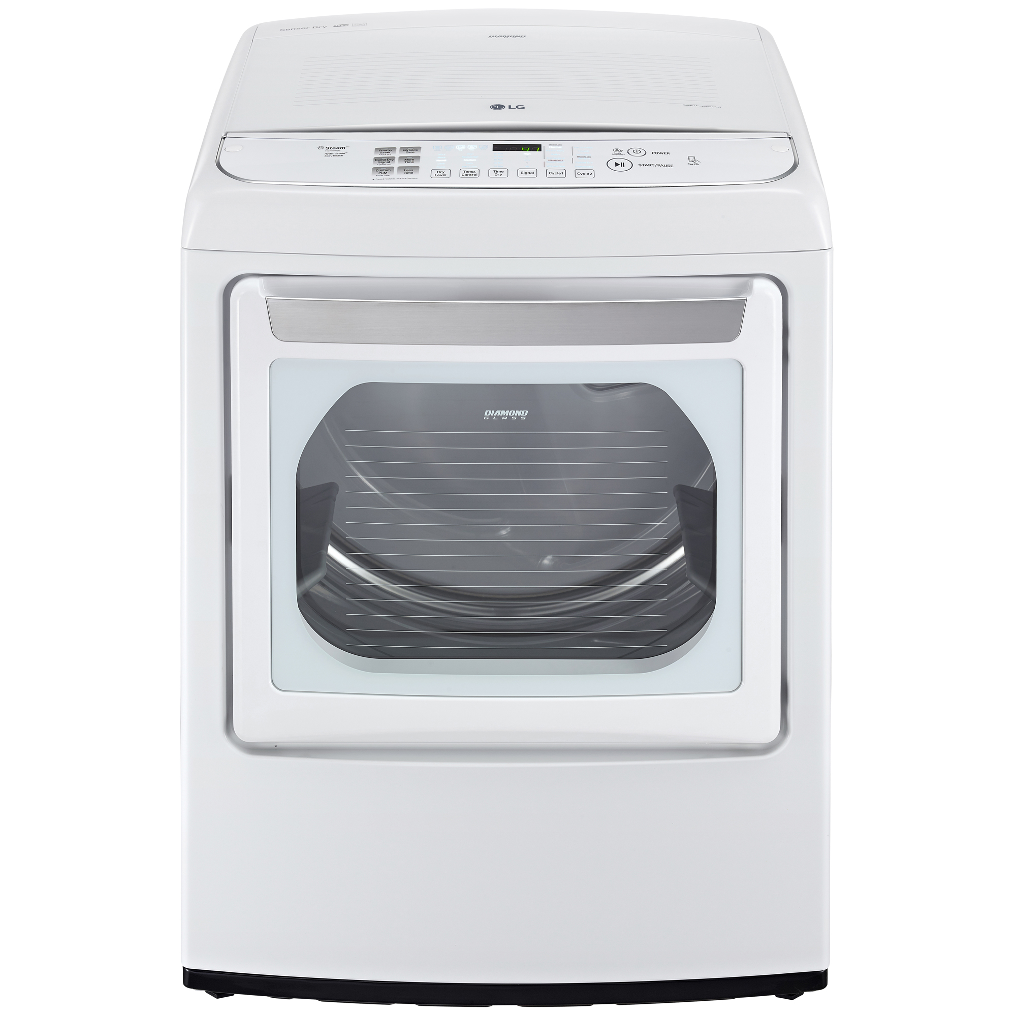 LG DLGY1702WE 7.3 cu. ft. Steam Gas Dryer w/ Front Controls and EasyLoad™ Door – White