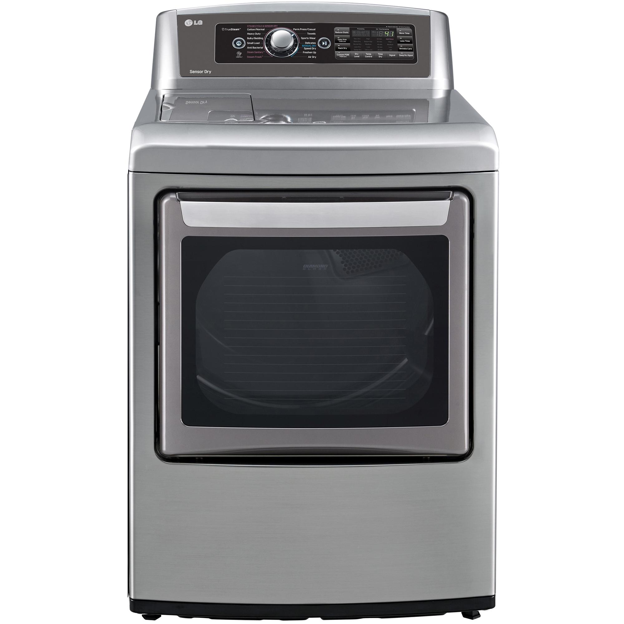 LG DLGX5781VE 7.3 cu. ft. Steam Gas Dryer w/ EasyLoad™ Door - Graphite Steel