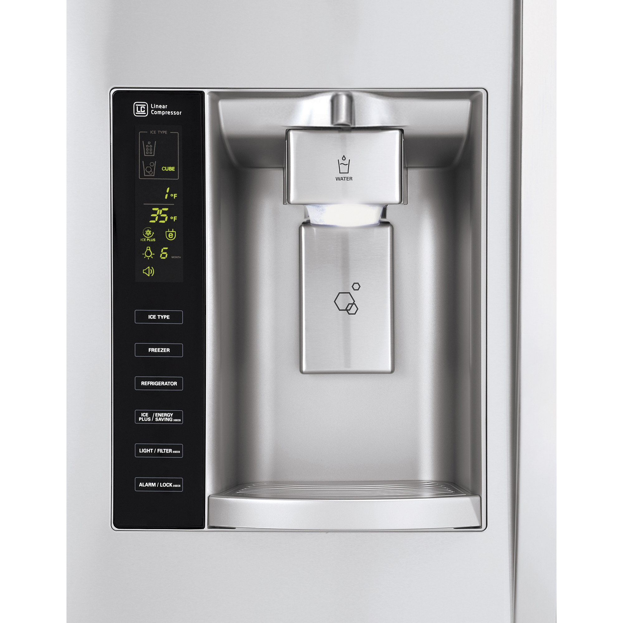 LG LSXS26326S 26.2 cu. ft. Side-by-Side Refrigerator w/ Ice & Water Dispenser