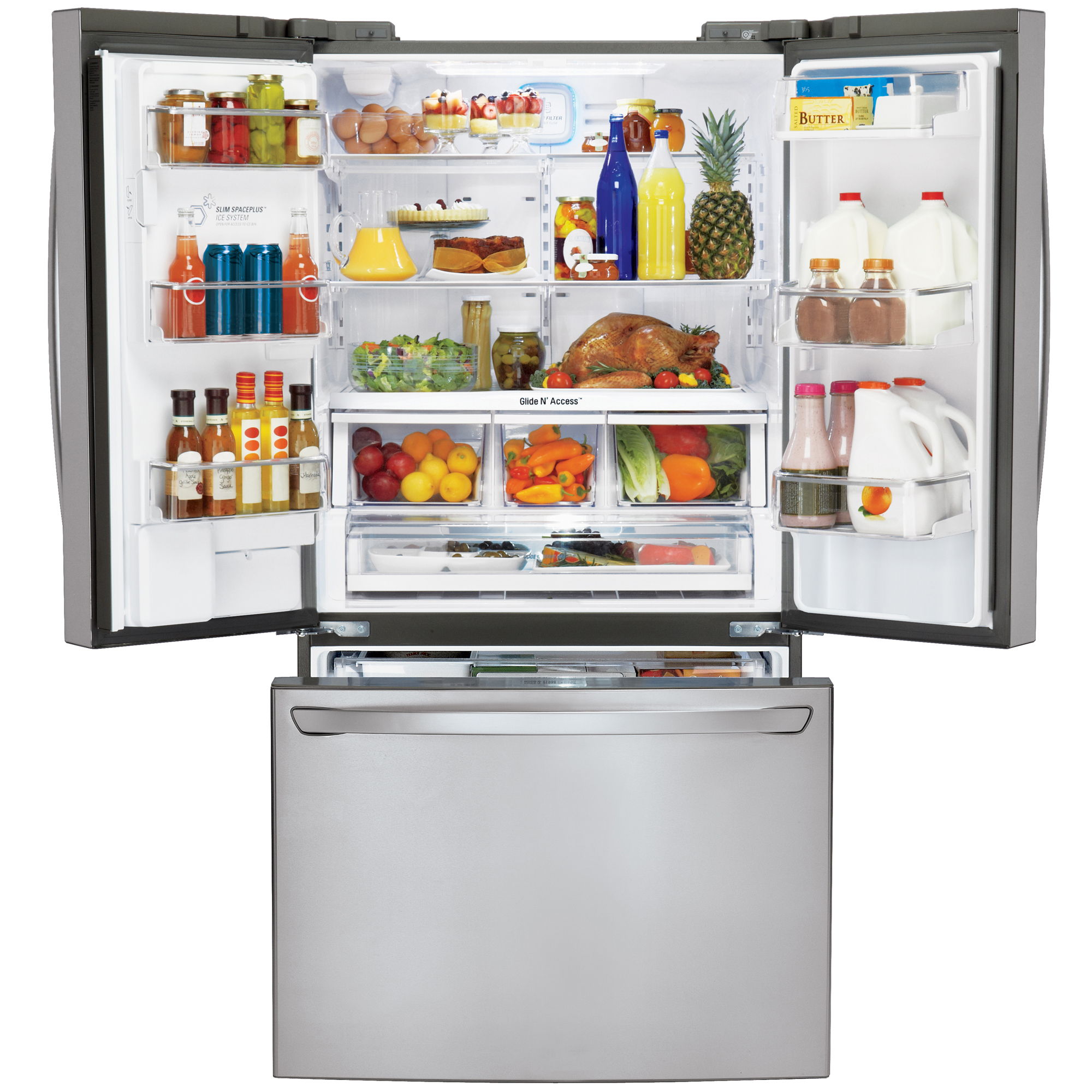 LG LFXS30726S 29.8 cu. ft. Super-Capacity French Door Refrigerator w/ Smart Cooling Plus