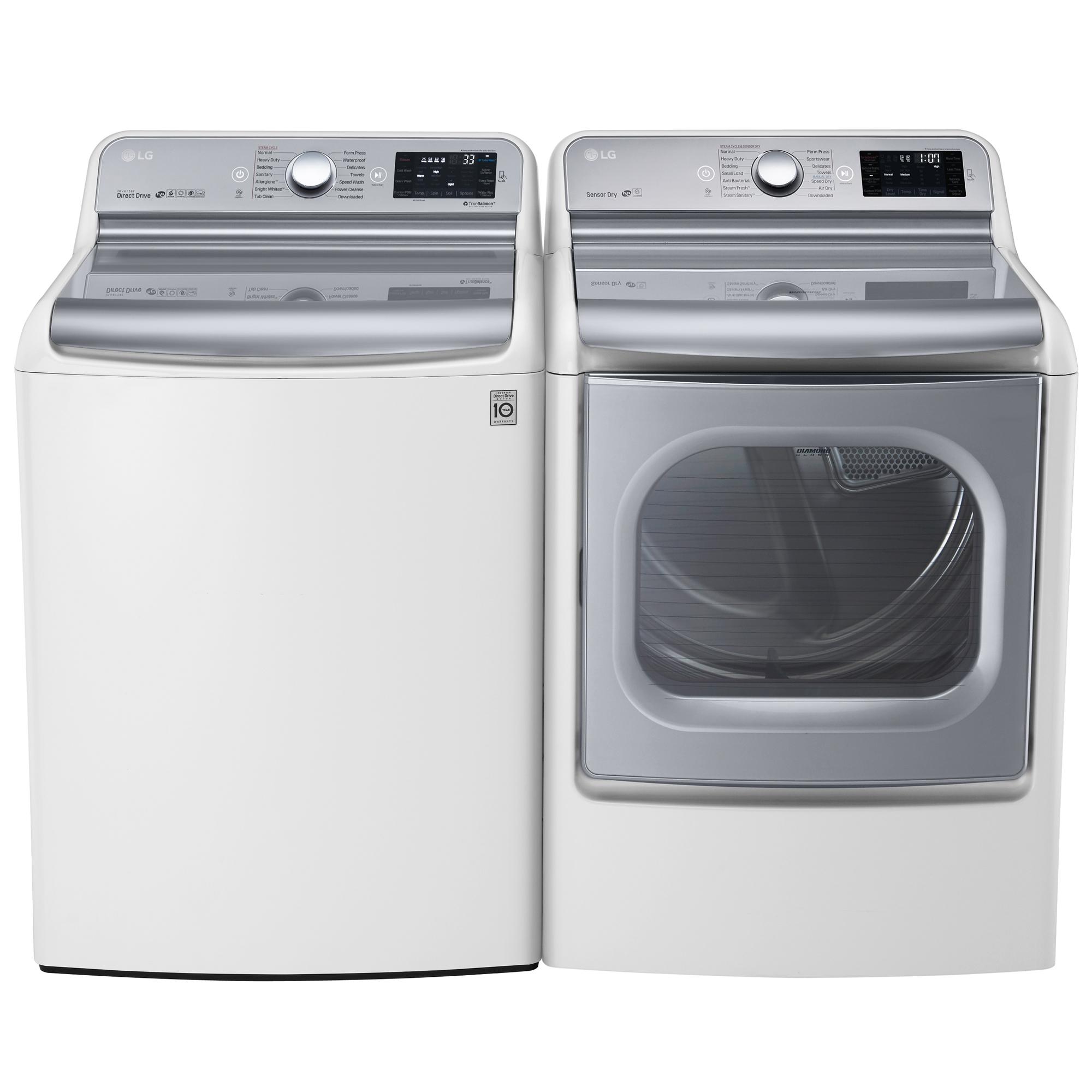 LG WT7700HWA 5.7 cu.ft.. Top Load Washer w/ TurboWash® Technology – White