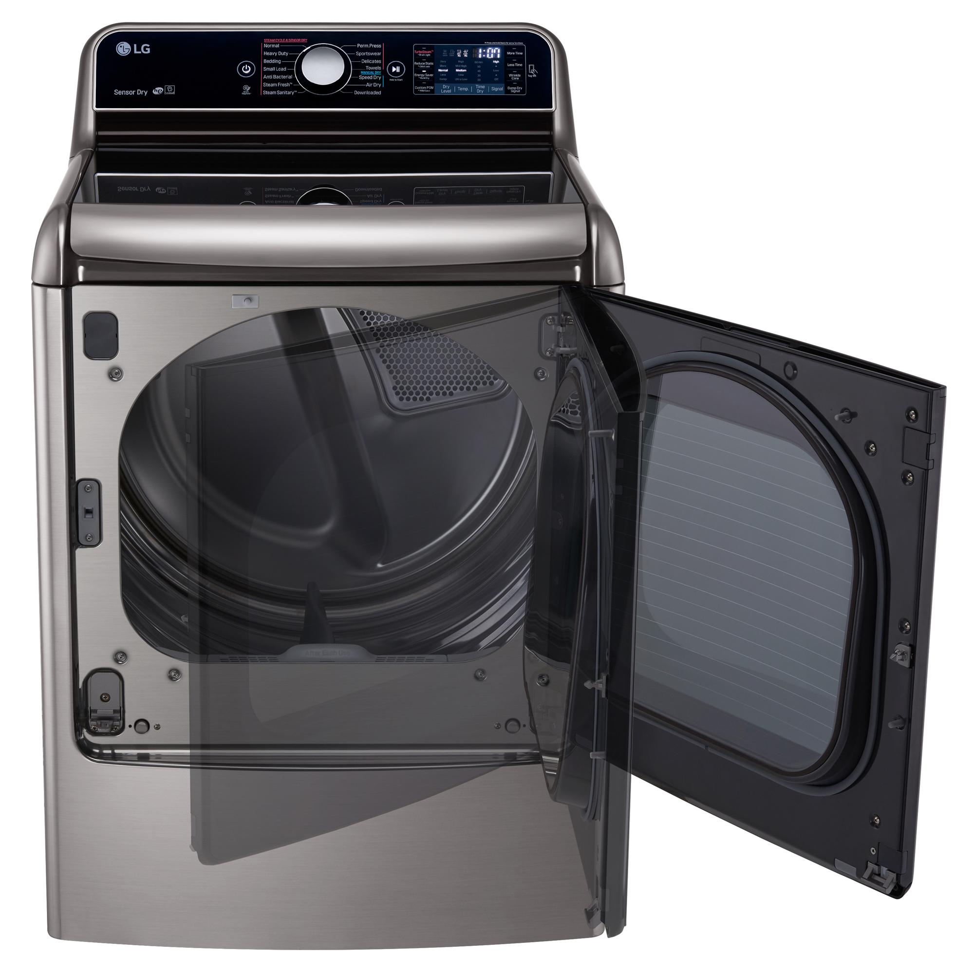 LG DLGX7701VE 9.0 cu.ft. TurboSteam™ Dryer w/LG EasyLoad™ Door – Graphite Steel