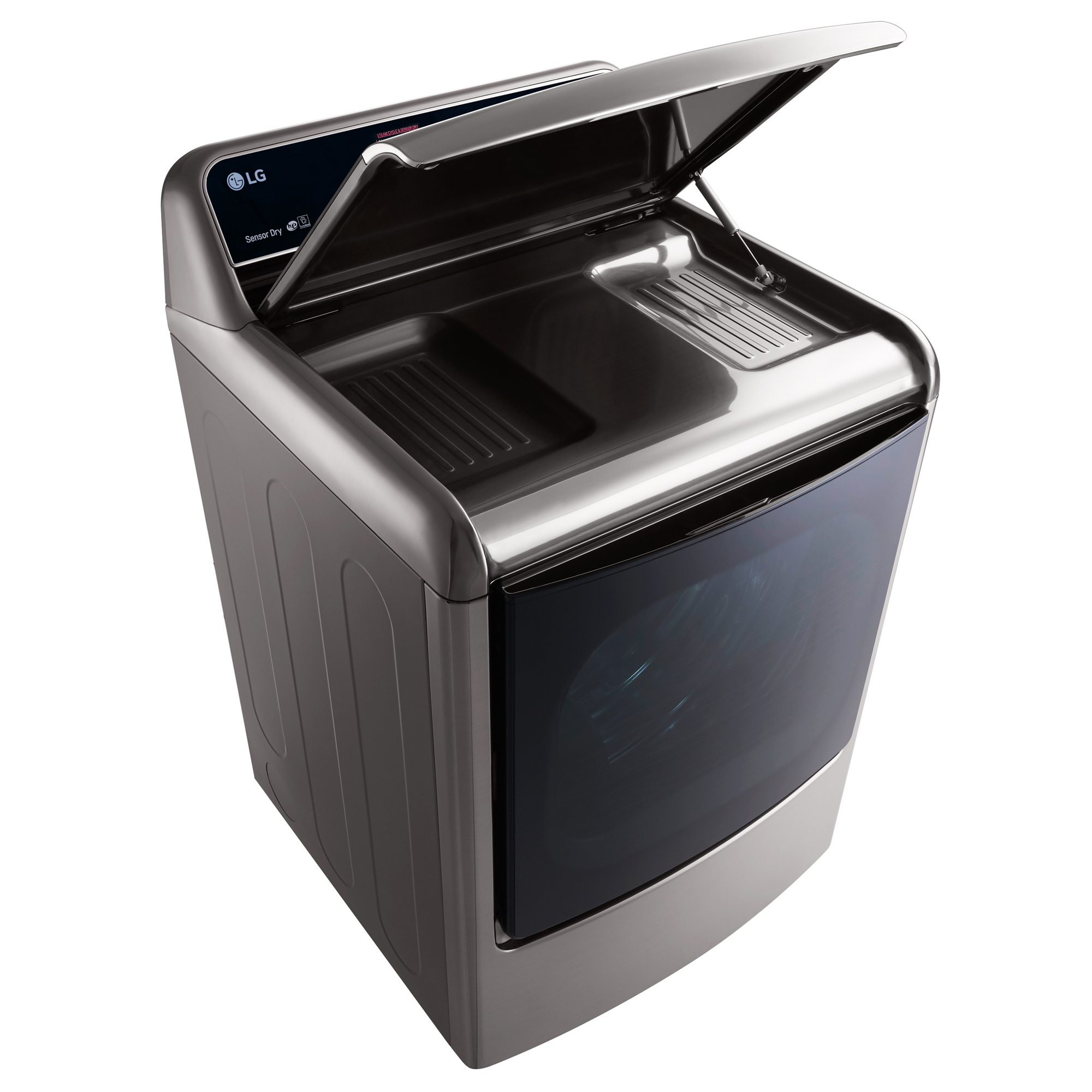 LG DLEX7700VE 9.0 cu.ft. TurboSteam™ Dryer w/LG EasyLoad™ Door – Graphite Steel