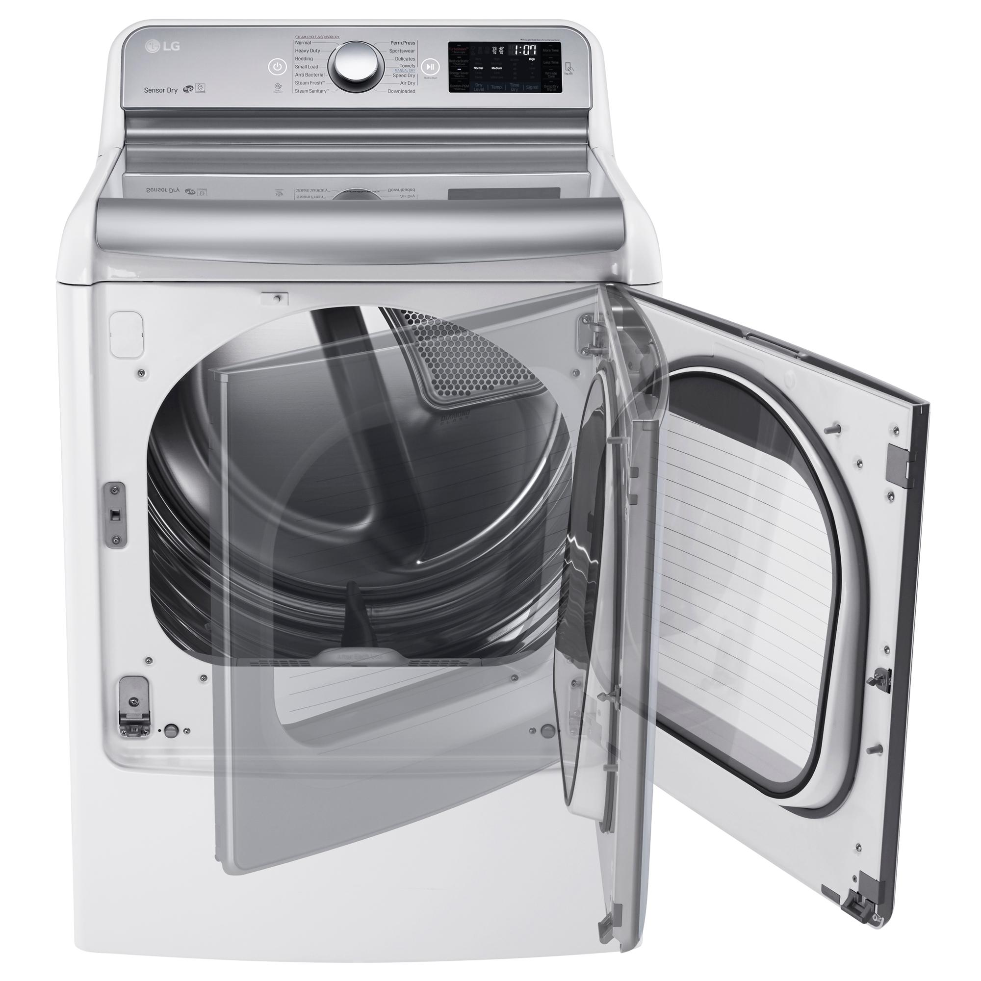 LG DLGX7701WE 9.0 cu.ft. TurboSteam™ Dryer w/LG EasyLoad™ Door – White