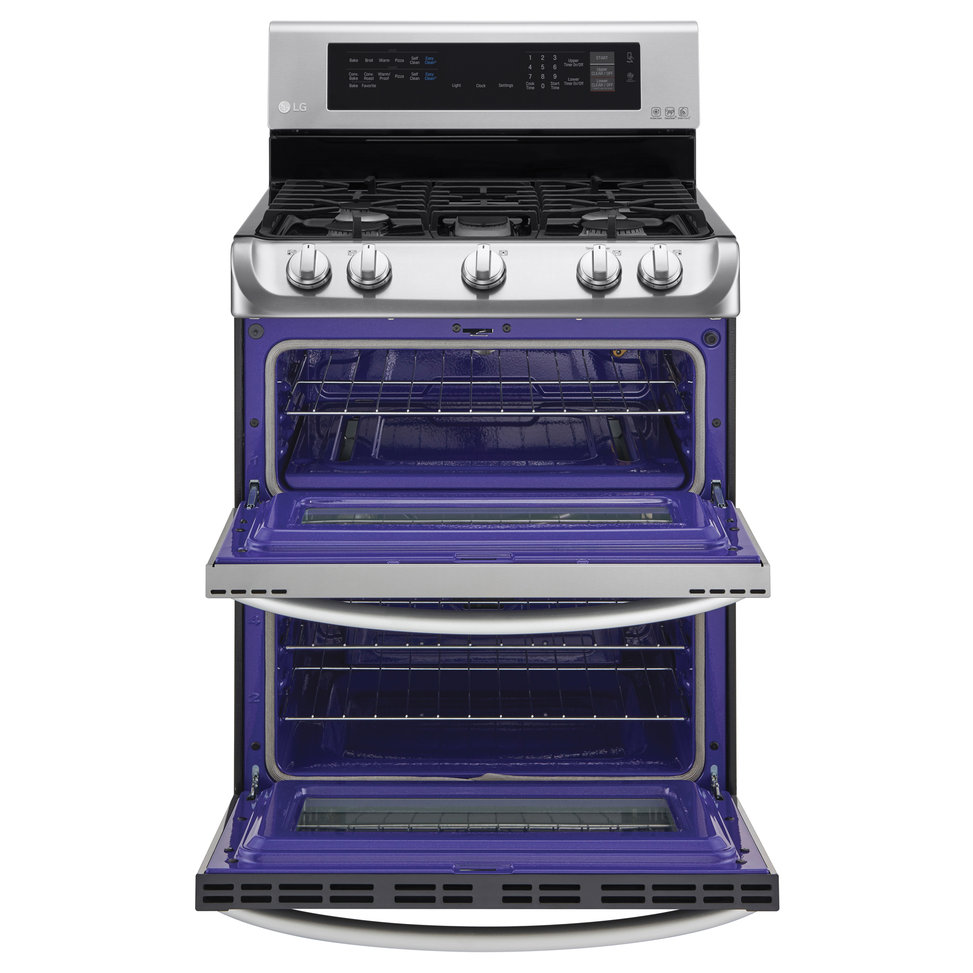 LG LDG4313ST 6.9 cu. ft. Double-Oven Gas Range w/ProBake Convection™ & EasyClean® – Stainless Steel