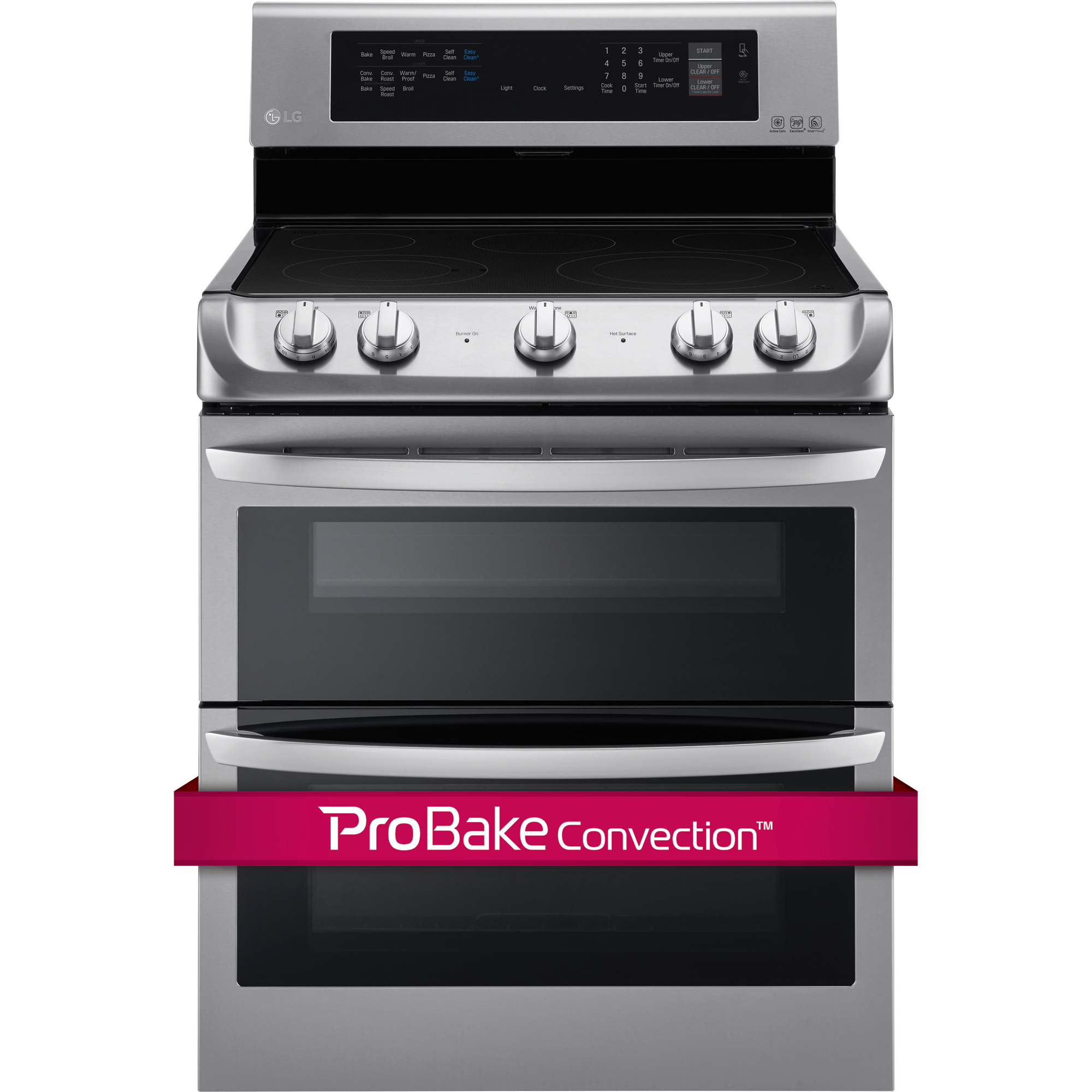 LG LDE4413ST 7.3 cu. ft. Double-Oven Electric Range w/ProBake Convection™ & EasyClean® – Stainless Steel
