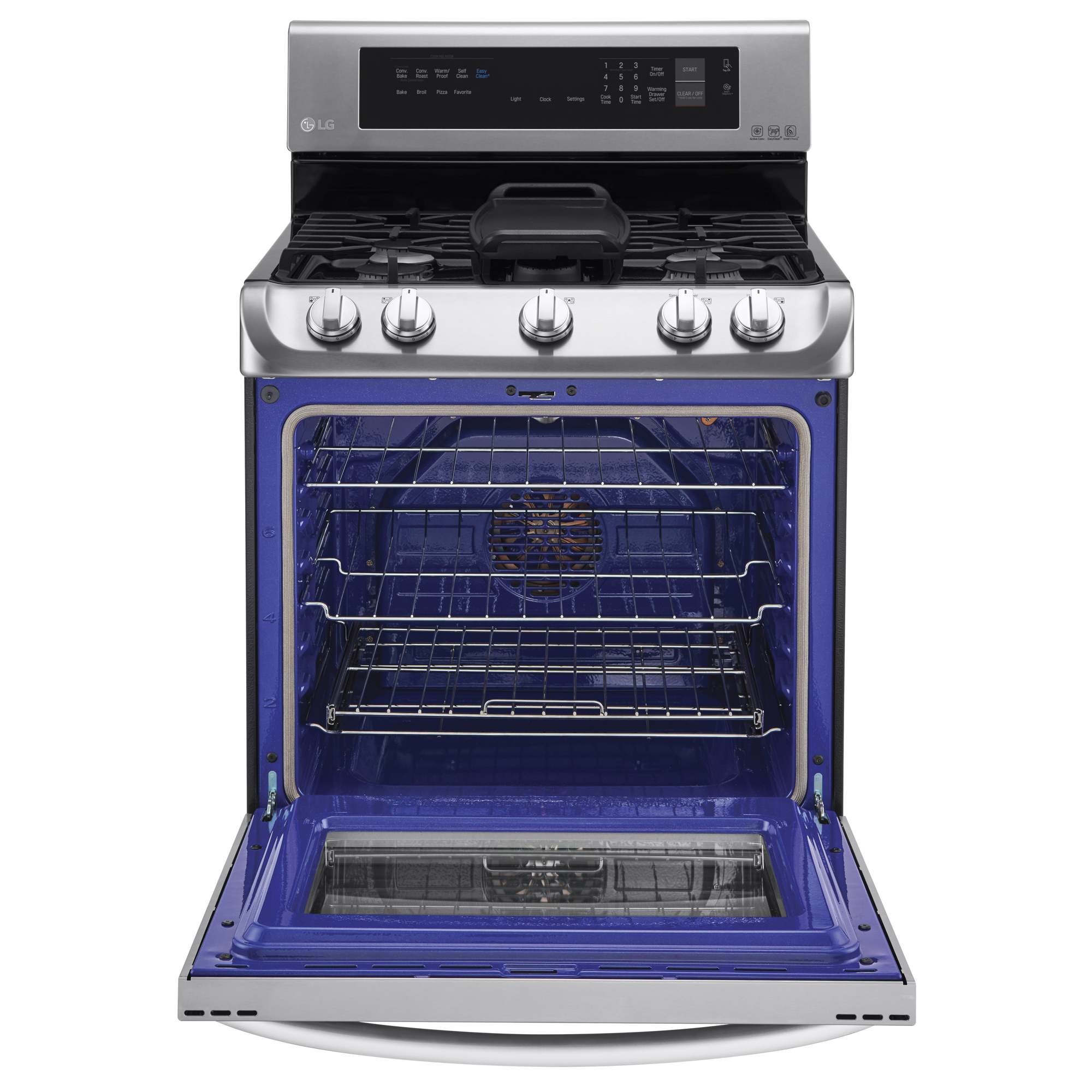 LG LRG4115ST 6.3 cu. ft. Gas Single Oven Range w/ ProBake Convection™  EasyClean® & Warming Drawer – Stainless Steel