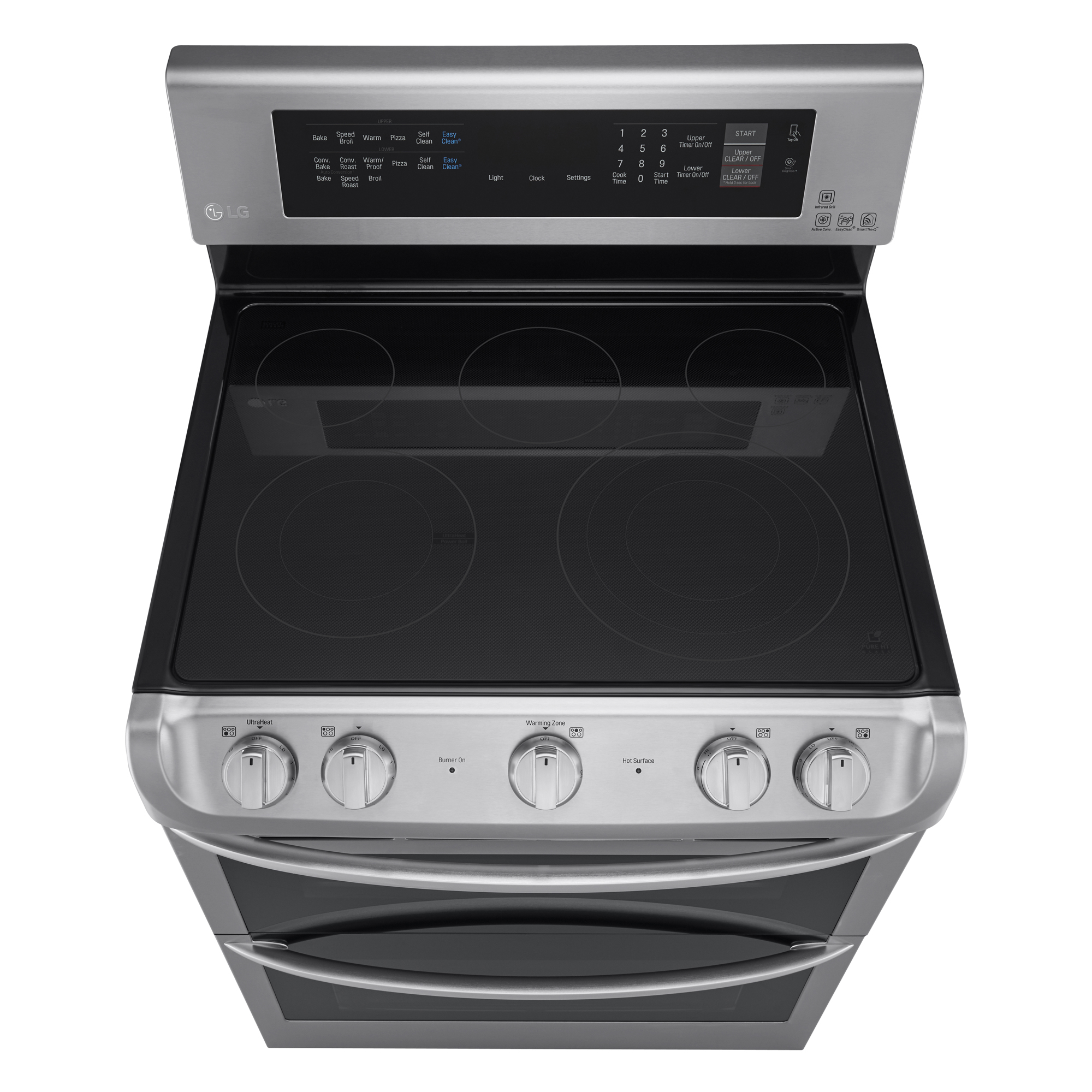 LG LDE4415ST 7.3 cu. ft. Double-Oven Electric Range w/ProBake Convection™ & EasyClean® – Stainless Steel