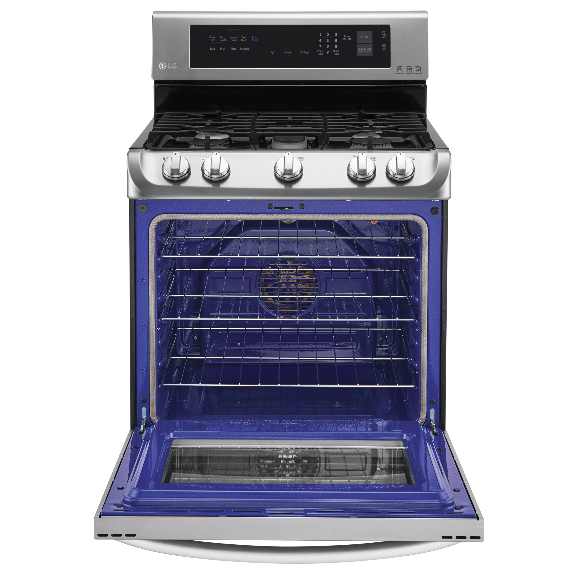 LG LRG4113ST 6.3 cu. ft. Gas Single Oven Range w/ ProBake Convection™ & EasyClean® – Stainless Steel