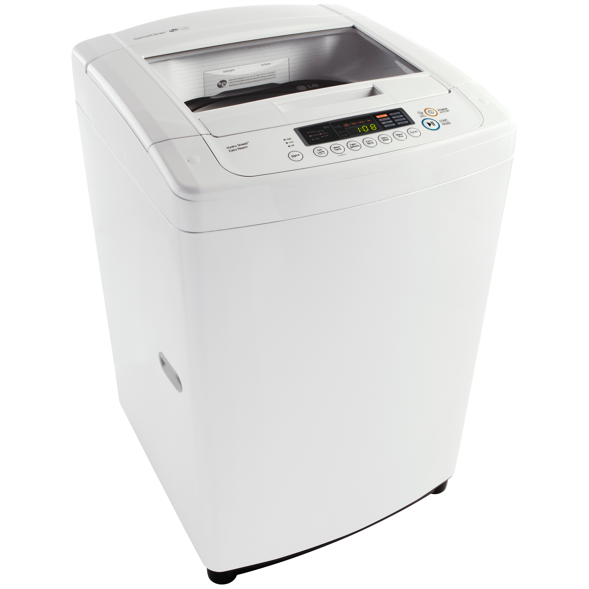 LG WT901CW 3.3 cu. ft. WT901CW Top Load Washer w/ Front Control Design – White