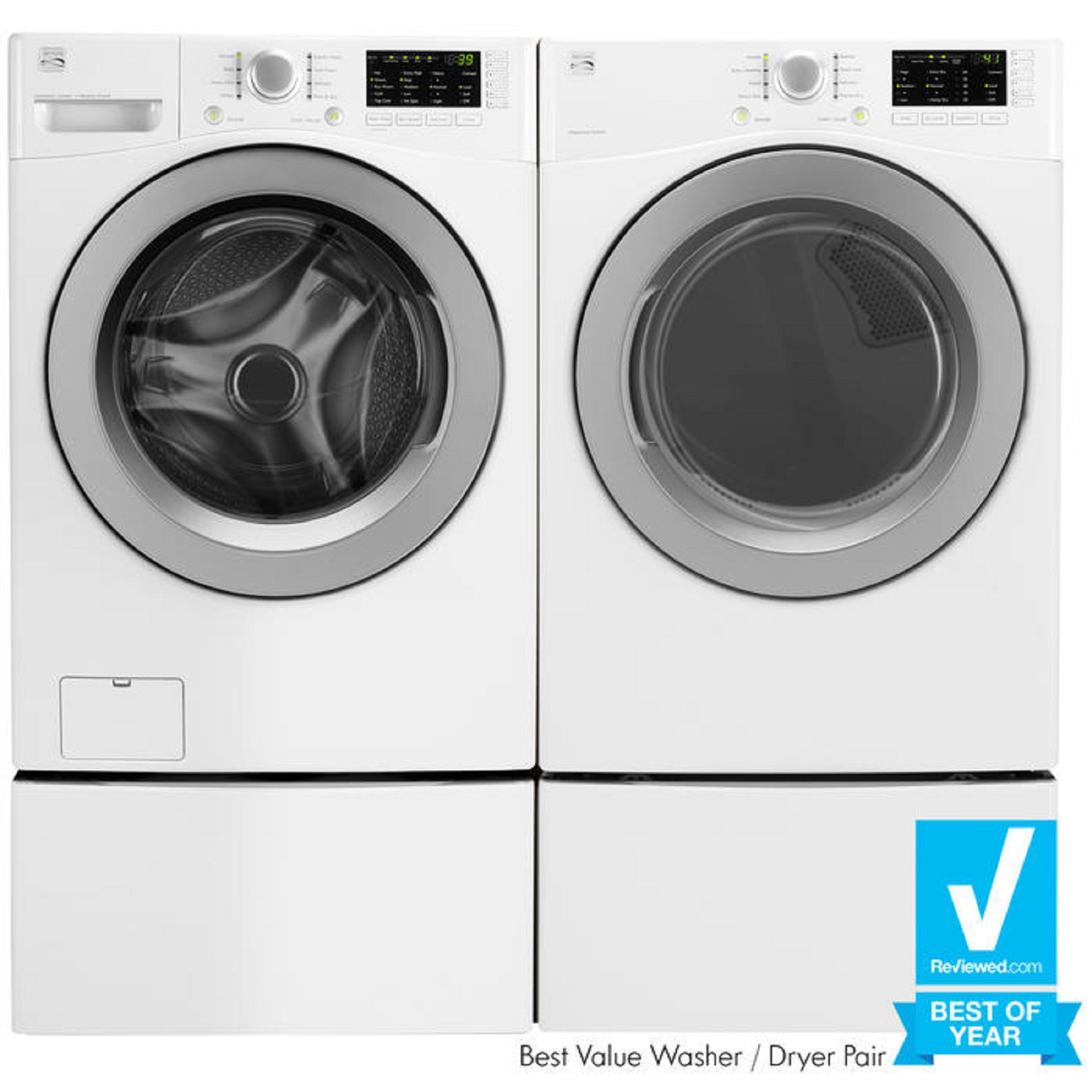 Kenmore 4.5 cu. ft. Front-Load Washer & 7.3 cu. ft. Electric Dryer -White
