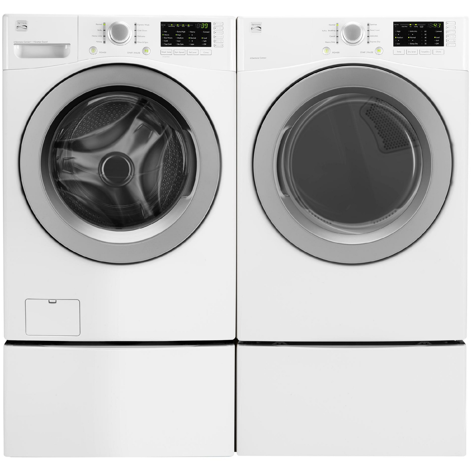 Kenmore 4.5 cu. ft. Front-Load Washer & 7.3 cu. ft. Gas Dryer  - White