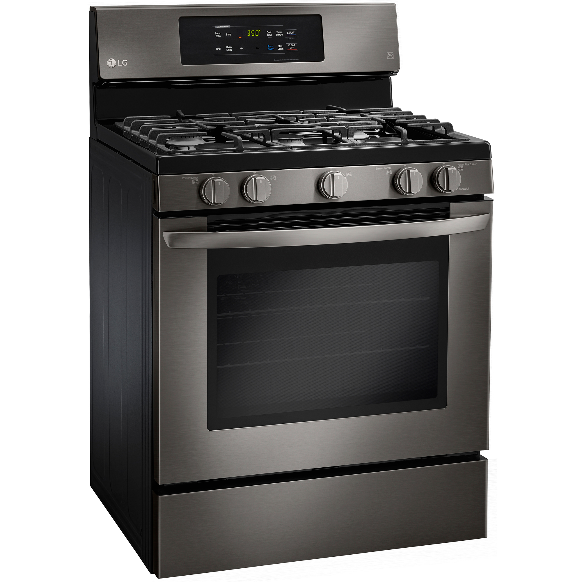 LG LRG3081BD 5.4 cu. ft. Large Capacity Gas Range w/ EasyClean® - Black Stainless