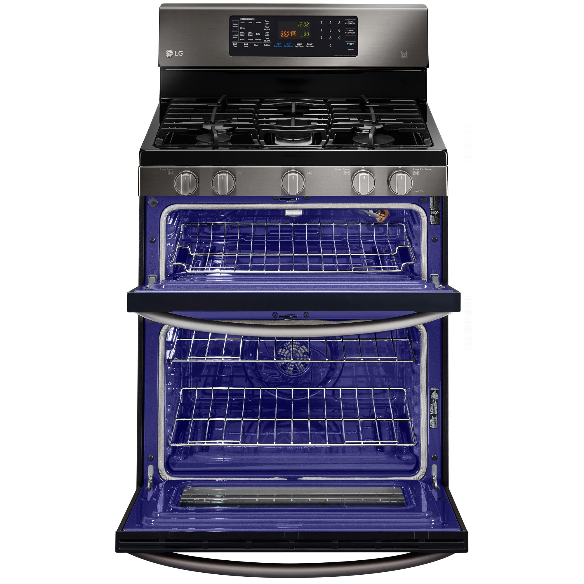 LG LDG3036BD 6.1 cu. ft. Double-Oven Gas Range w/EasyClean™ - Black Stainless