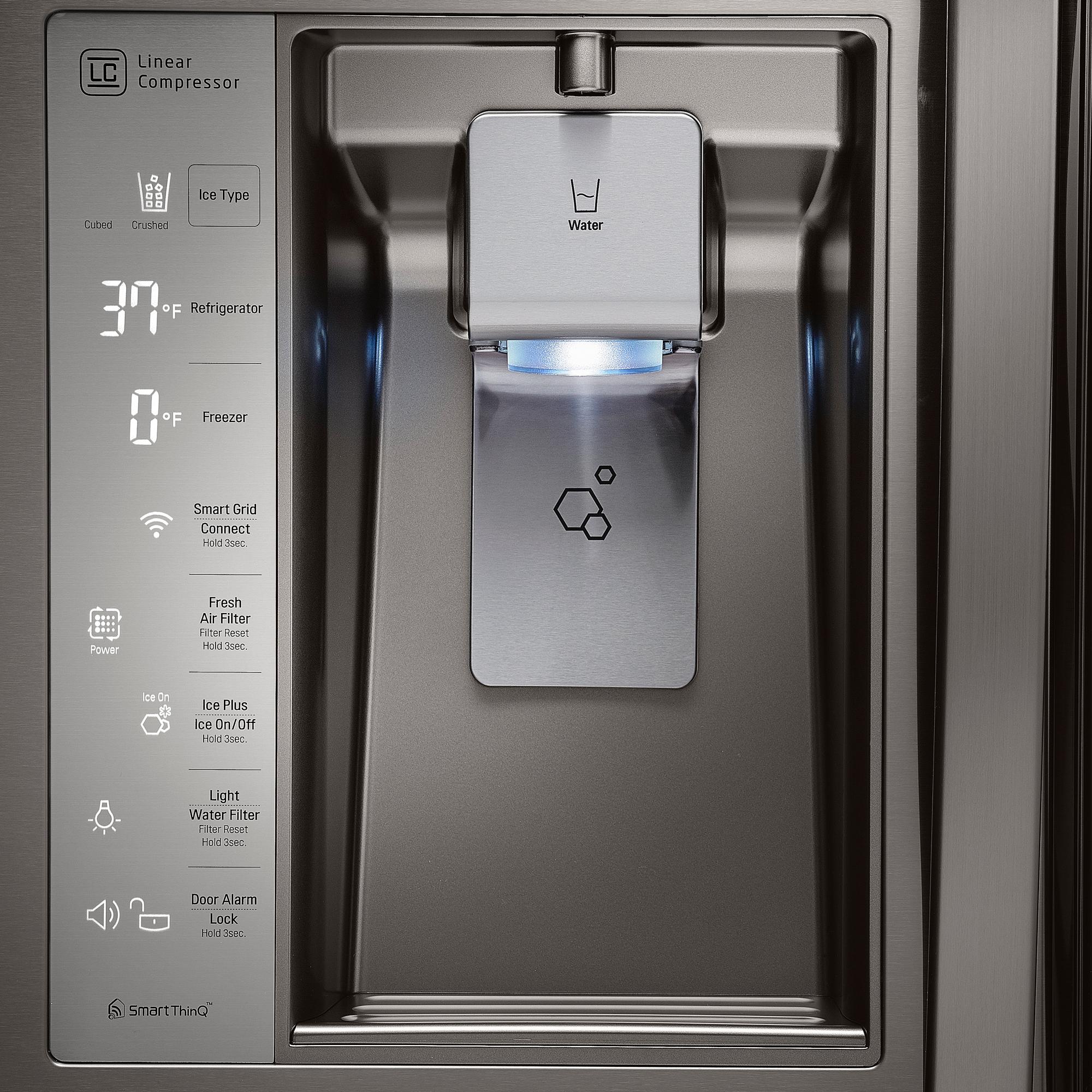 LG LFXS30766D 29.6 cu. ft. Super-Capacity Door-in-Door™ Refrigerator - Black Stainless